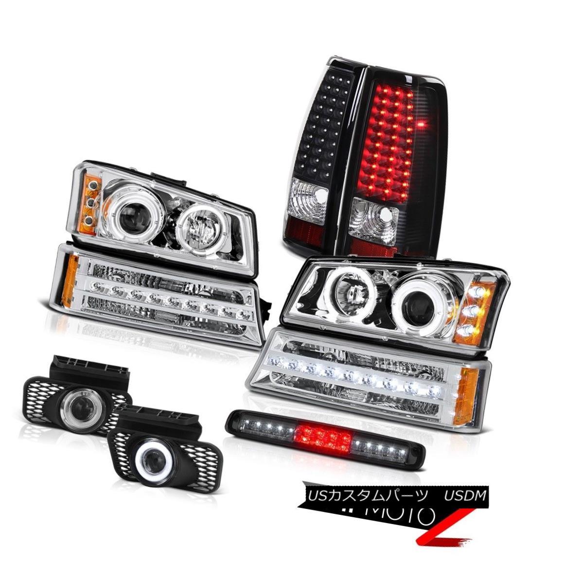 ヘッドライト 03-06 Silverado 3500Hd Third Brake Light Foglamps Parking Headlamps Rear Lights 03-06 Silverado 3500Hd第3ブレーキライトフォグランプパーキングヘッドランプリアライト