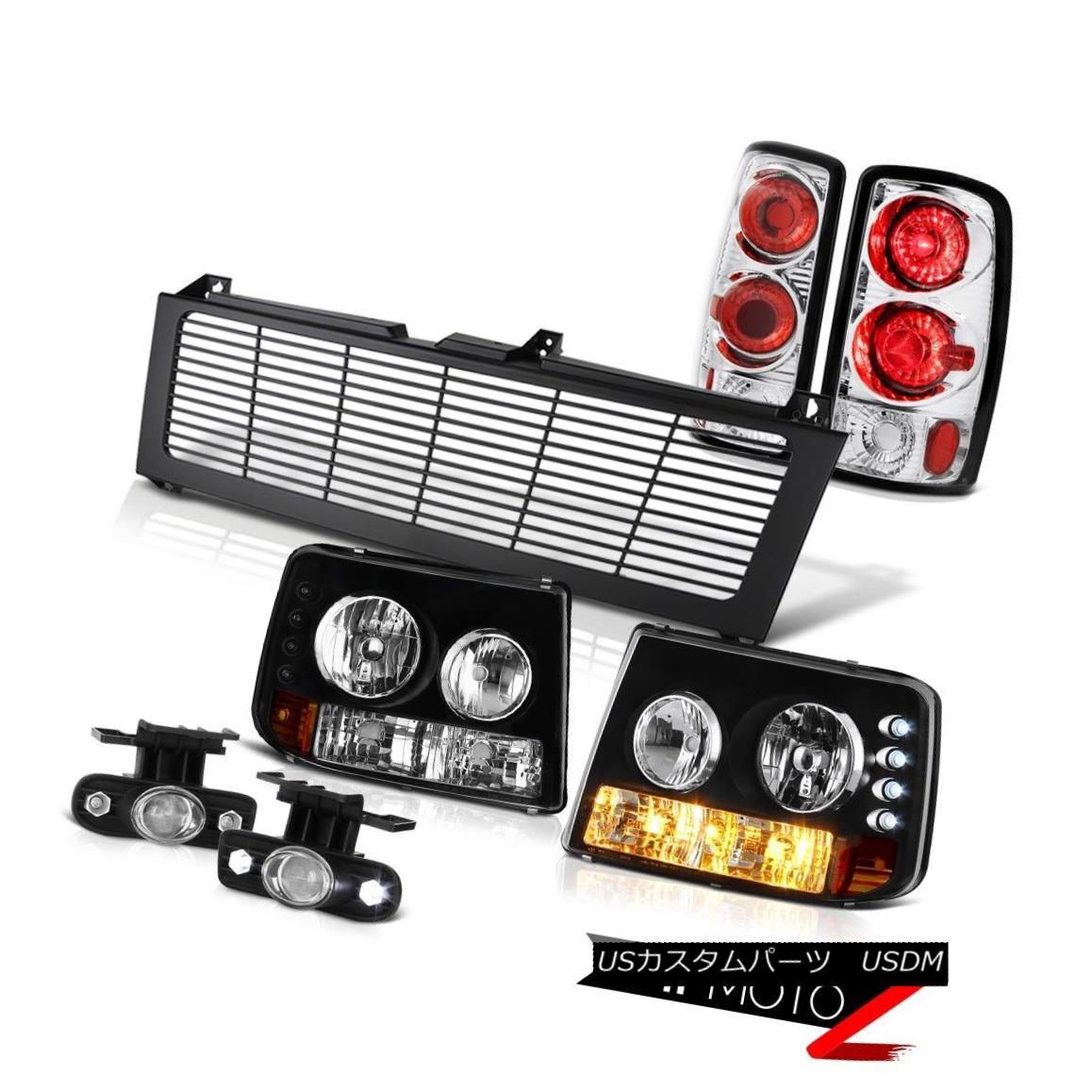 ヘッドライト 00 01 02 03 04 Suburban Bumper Headlight Tail Lights Glass Projector Fog Grille 00 01 02 03 04郊外バンパーヘッドライトテールライトガラスプロジェクターフォググリル