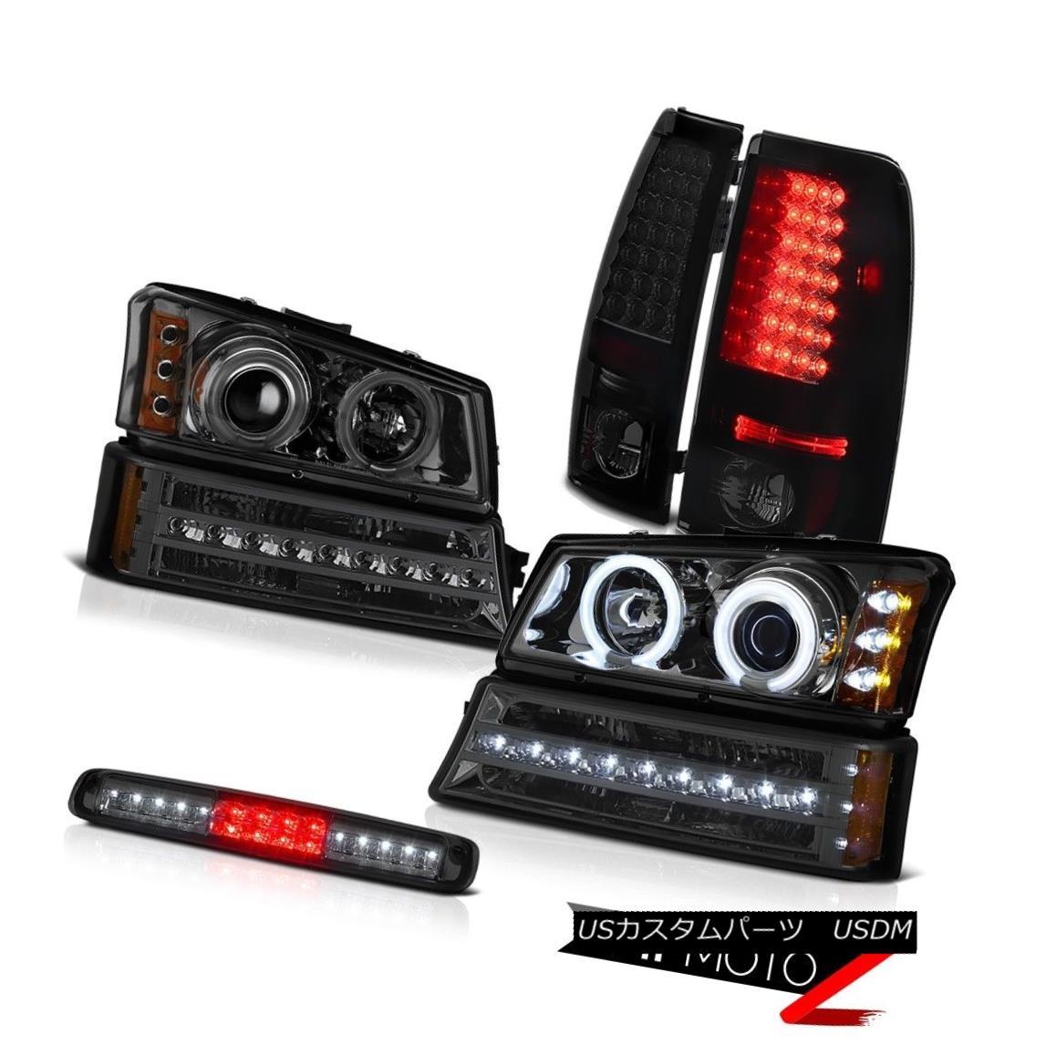 ヘッドライト 03-06 Chevy Silverado Smoked Third Brake Light Turn Signal Headlights Tail Lamps 03-06 Chevy Silveradoスモーク第3ブレーキライトターンシグナルヘッドライトテールランプ