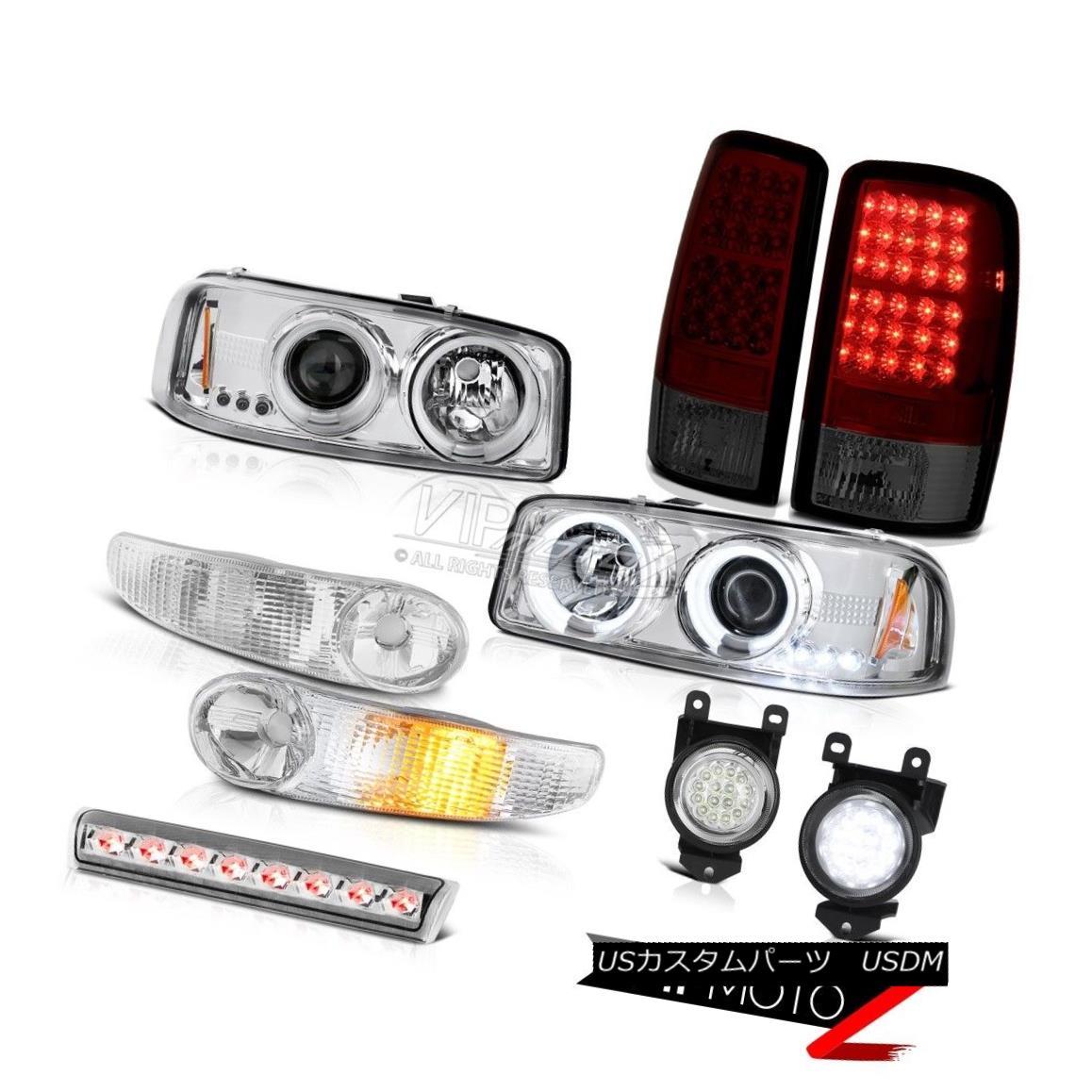 ヘッドライト CCFL Headlight Signal Red LED Brake Lights FogLamps Roof Chrome 2001-2006 Yukon CCFLヘッドライト信号レッドLEDブレーキライトFogLamps Roof Chrome 2001-2006ユーコン