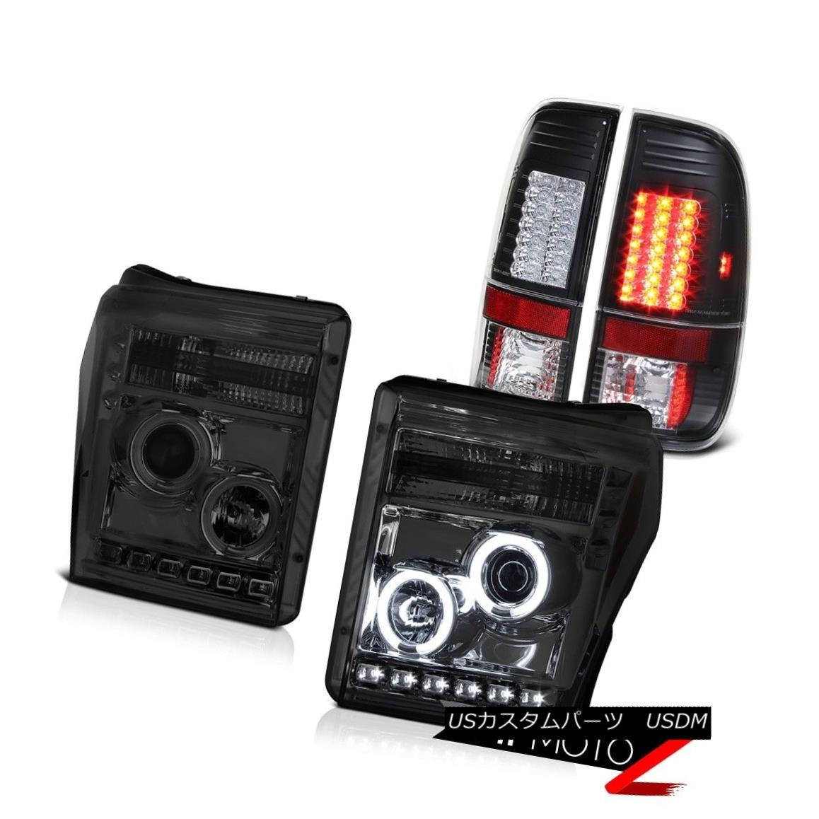 ヘッドライト 11 12 13 14 15 16 F250 6.2L Rear Brake Lamps Titanium Smoke Projector Headlamps 11 12 13 14 15 16 F250 6.2Lリアブレーキランプチタンスモークプロジェクターヘッドランプ
