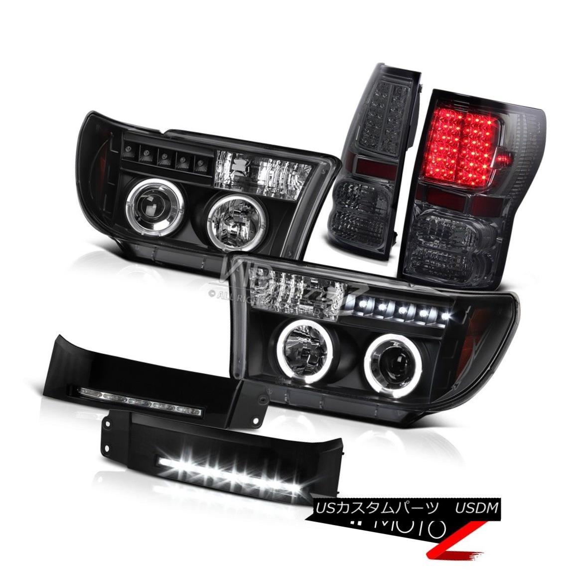 ヘッドライト 07-13 Tundra PickUp Truck Black Smoke Tail Light Halo Headlight Fog DRL Lights 07-13トンドラピックアップトラックブラックスモークテールライトハローヘッドライトフォグDRLライト