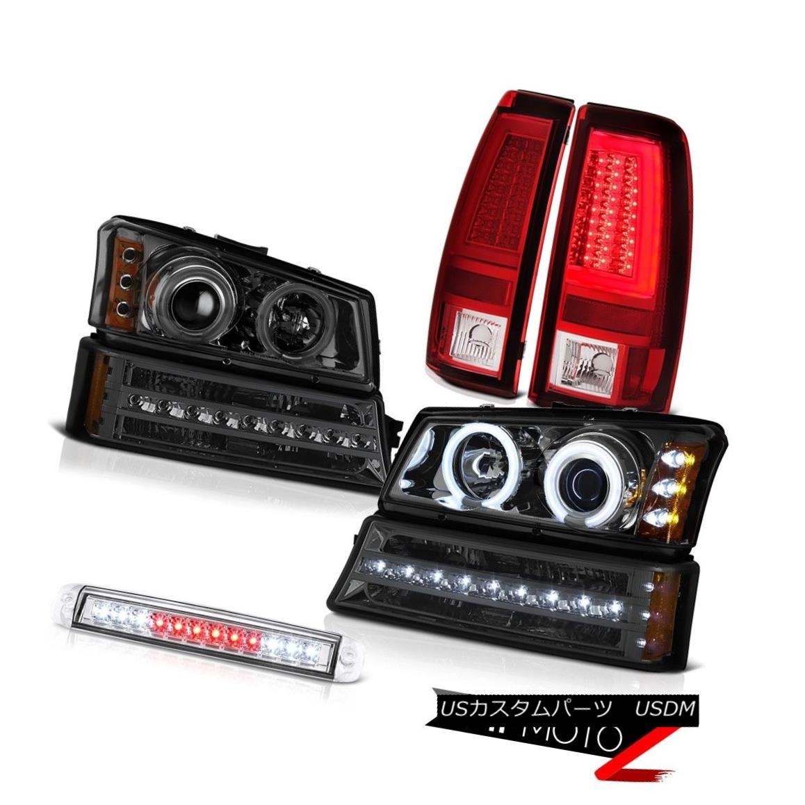 ヘッドライト 2003-2006 Silverado 1500 Tail Lamps Chrome Third Brake Light Parking Headlights 2003-2006 Silverado 1500テールランプクロームサードブレーキライトパーキングヘッドライト