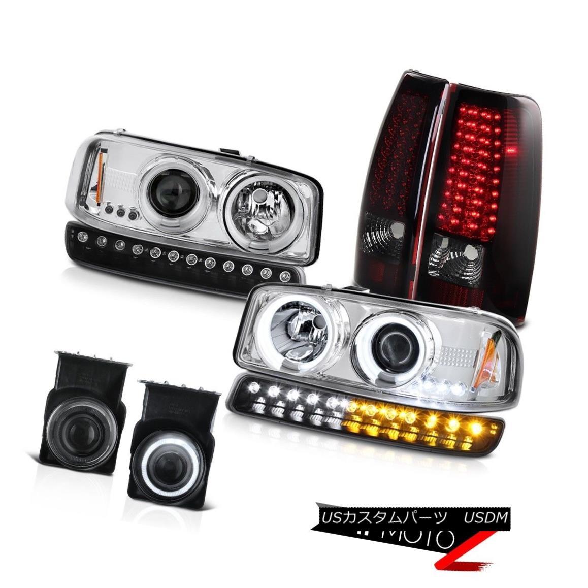 ヘッドライト 03-06 Sierra 2500 Fog lights led tail black bumper lamp chrome ccfl Headlights 03-06 Sierra 2500フォグライトはテールブラックバンパーランプをリードしましたクロムccflヘッドライト