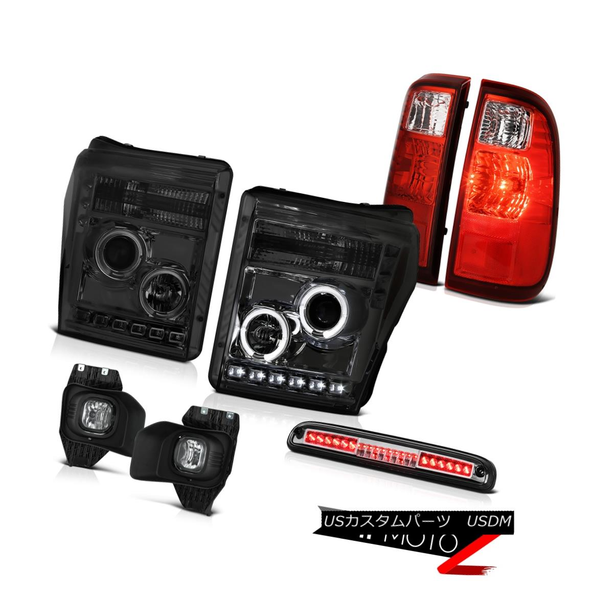 ヘッドライト 11-16 F250 Lariat High Stop Light Foglamps Wine Red Tail Brake Lamps Headlamps 11-16 F250ラリアートハイストップライトフォグランプワインレッドテールブレーキランプヘッドランプ