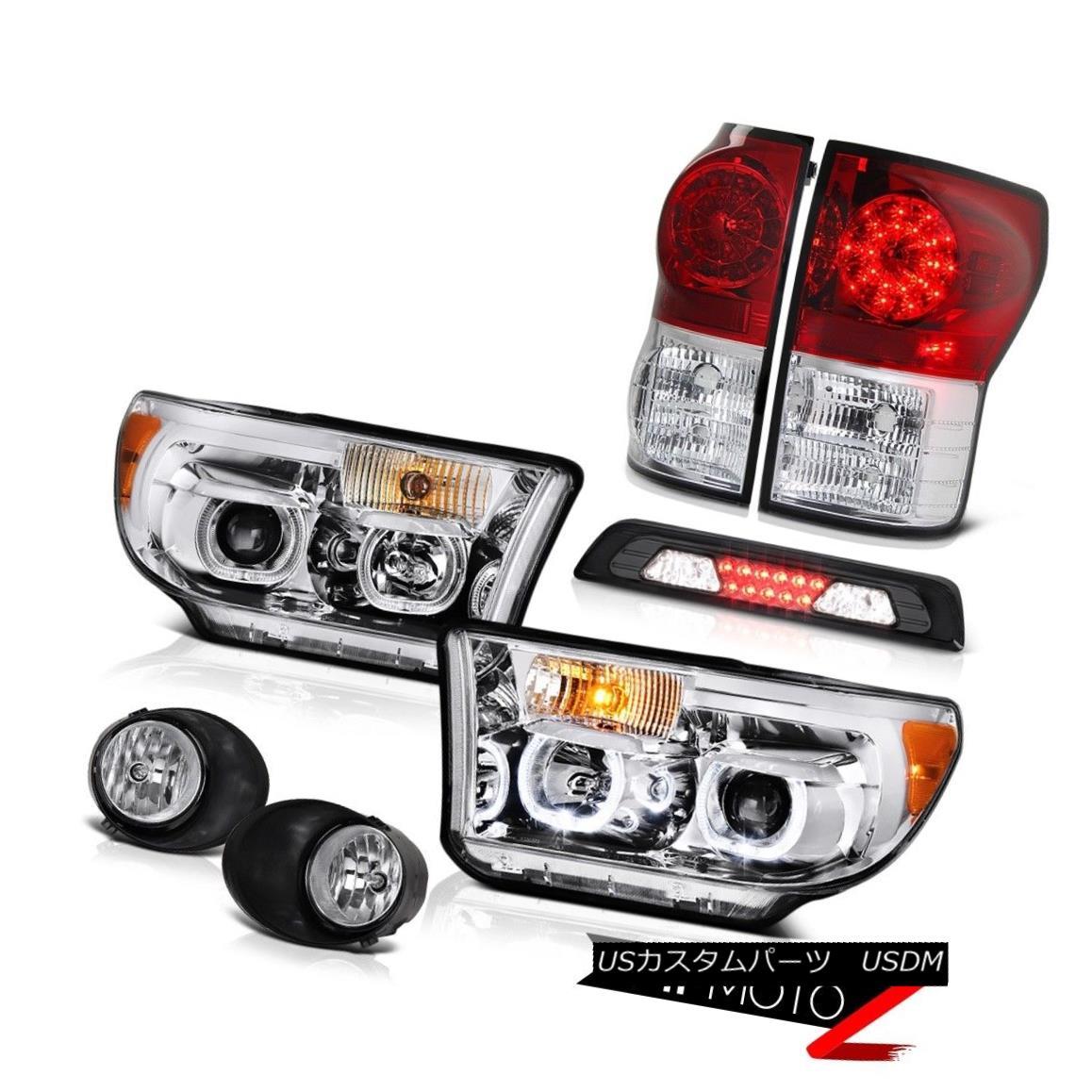 ヘッドライト 07-13 Toyota Tundra SR5 Headlamps Fog Lamps Smoked Roof Cab Lamp Red Taillights 07-13トヨタトンドラSR5ヘッドランプフォグランプスモークルーフキャブランプ赤い灯台
