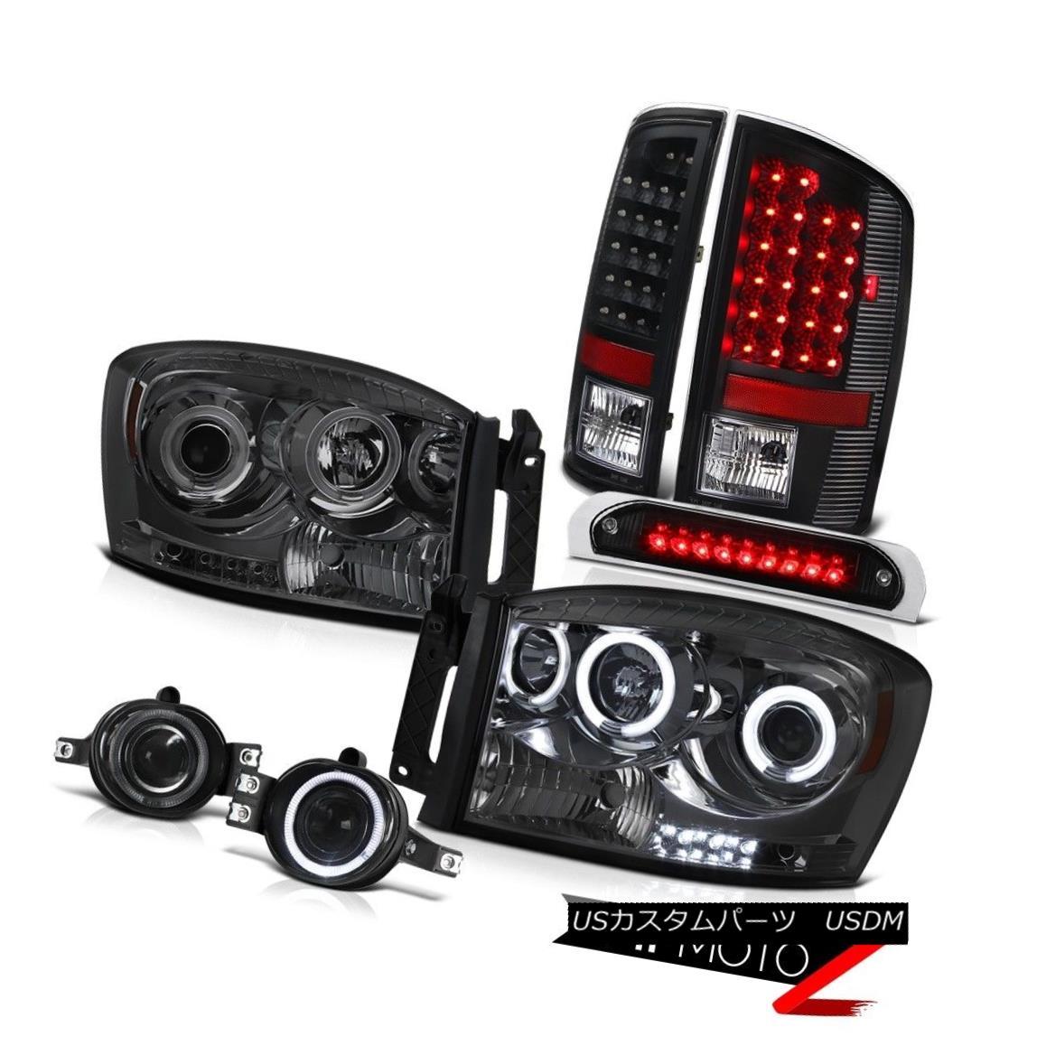 ヘッドライト Quality CCFL Headlights Black LED Tail Lamps Projector Foglamps 2006 Ram 1500 品質CCFLヘッドライトブラックLEDテールランププロジェクターフォグランプ2006 Ram 1500