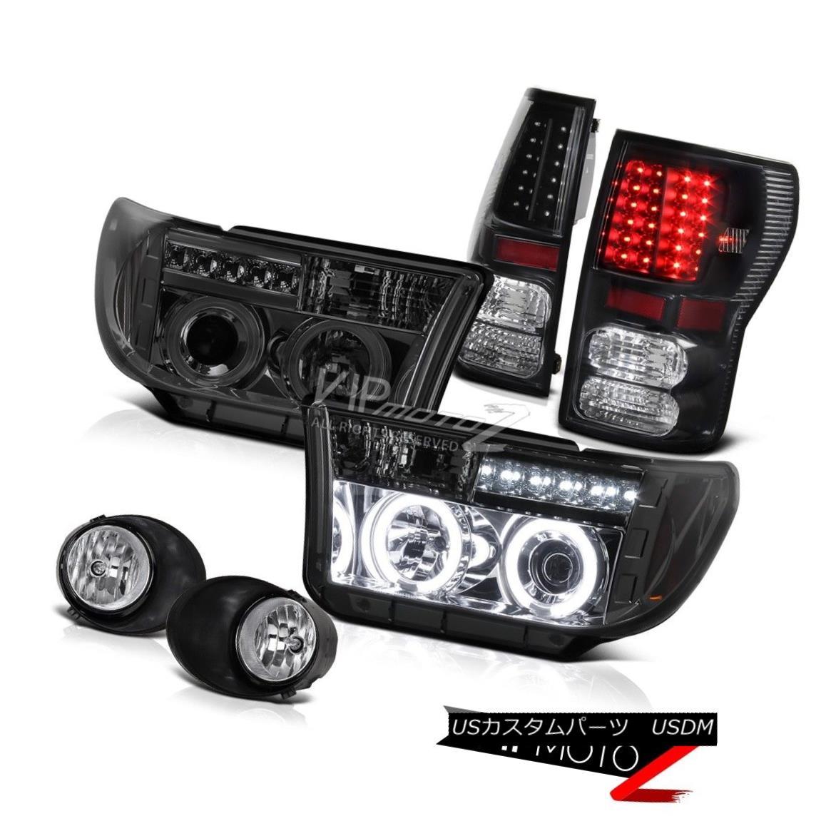 ヘッドライト CCFL Halo Projector Headlight+Black Led Tail Light+Fog Lamp Toyota 07-13 Tundra CCFL Haloプロジェクターヘッドライト+ Blac  k Ledテールライト+フォグランプToyota 07-13 Tundra