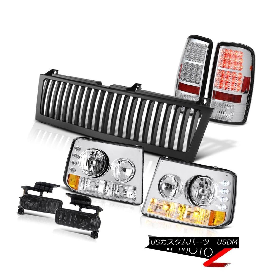ヘッドライト 00 01 02 03 04 05 06 Chevy Tahoe Euro Chrome Headlight SMD Tail Light Fog Grille 00 01 02 03 04 05 06シェビータホユーロクロームヘッドライトSMDテールライトフォググリル