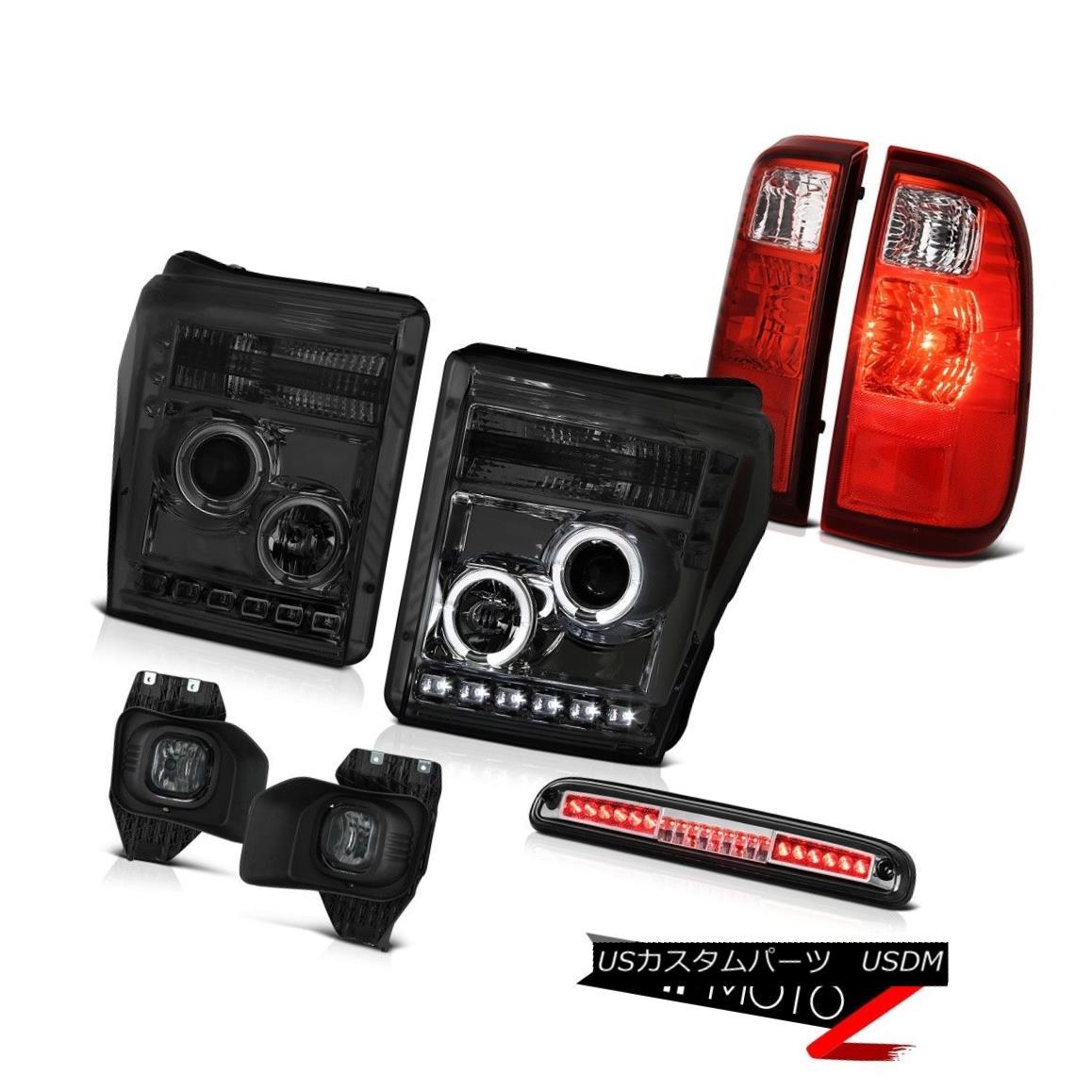 ヘッドライト 11-16 F250 6.2L Euro Chrome High Stop Lamp Smokey Foglights Taillamps Headlamps 11-16 F250 6.2Lユーロクロームハイストップランプスモーキーフォグライトタイルランプヘッドランプ