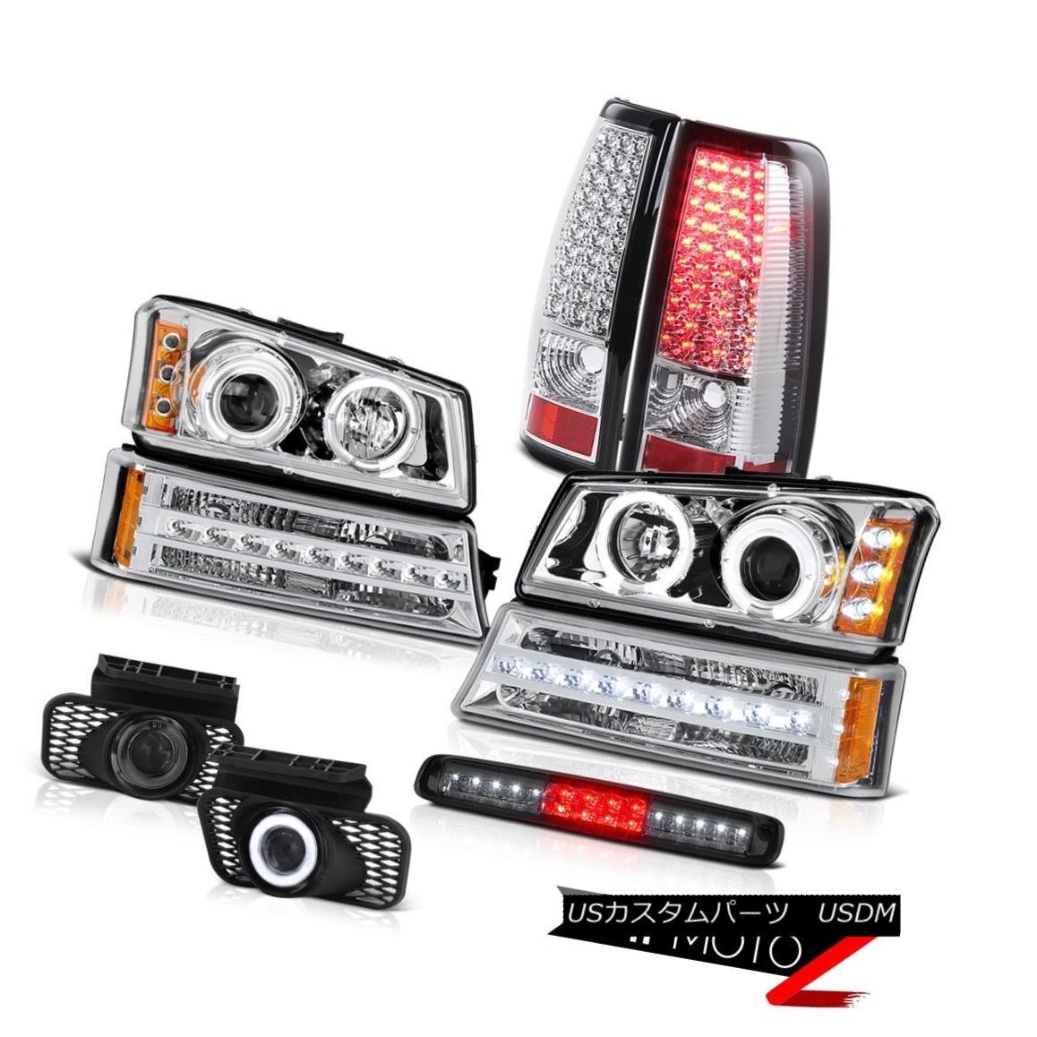 ヘッドライト 2003-2006 Silverado 1500 Roof Brake Light Fog Lights Signal Headlamps Taillamps 2003-2006 Silverado 1500ルーフブレーキライトフォグライト信号ヘッドランプタイルランプ
