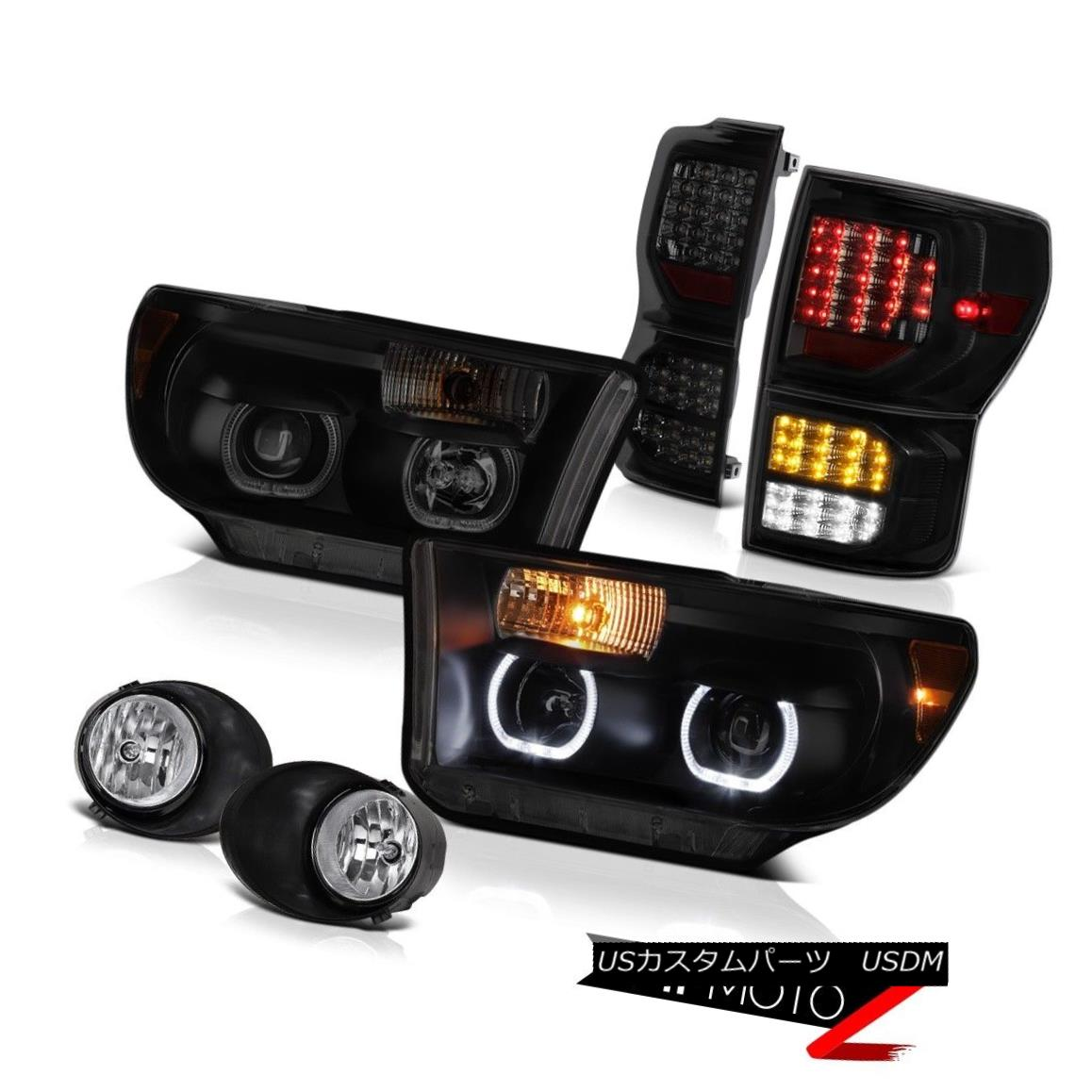 ヘッドライト 07-13 Toyota Tundra SR5 Taillights Headlights Euro Chrome Foglamps