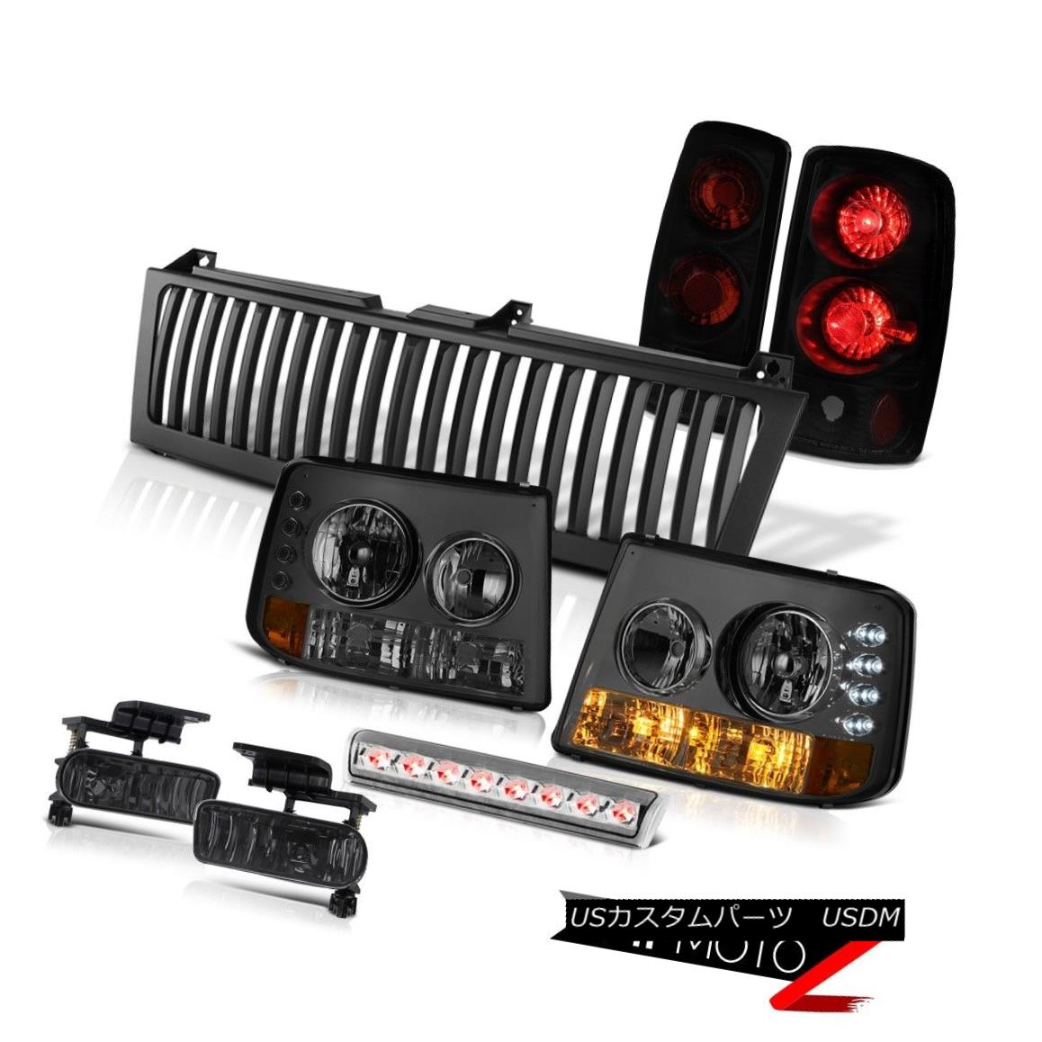 ヘッドライト Smoke Bumper+Headlights Sinister Black Brake Lamps Fog3rd LED 00-06 Chevy Tahoe スモークバンパー+ヘッドリッグ hts SinisterブラックブレーキランプFog3rd LED 00-06 Chevy Tahoe