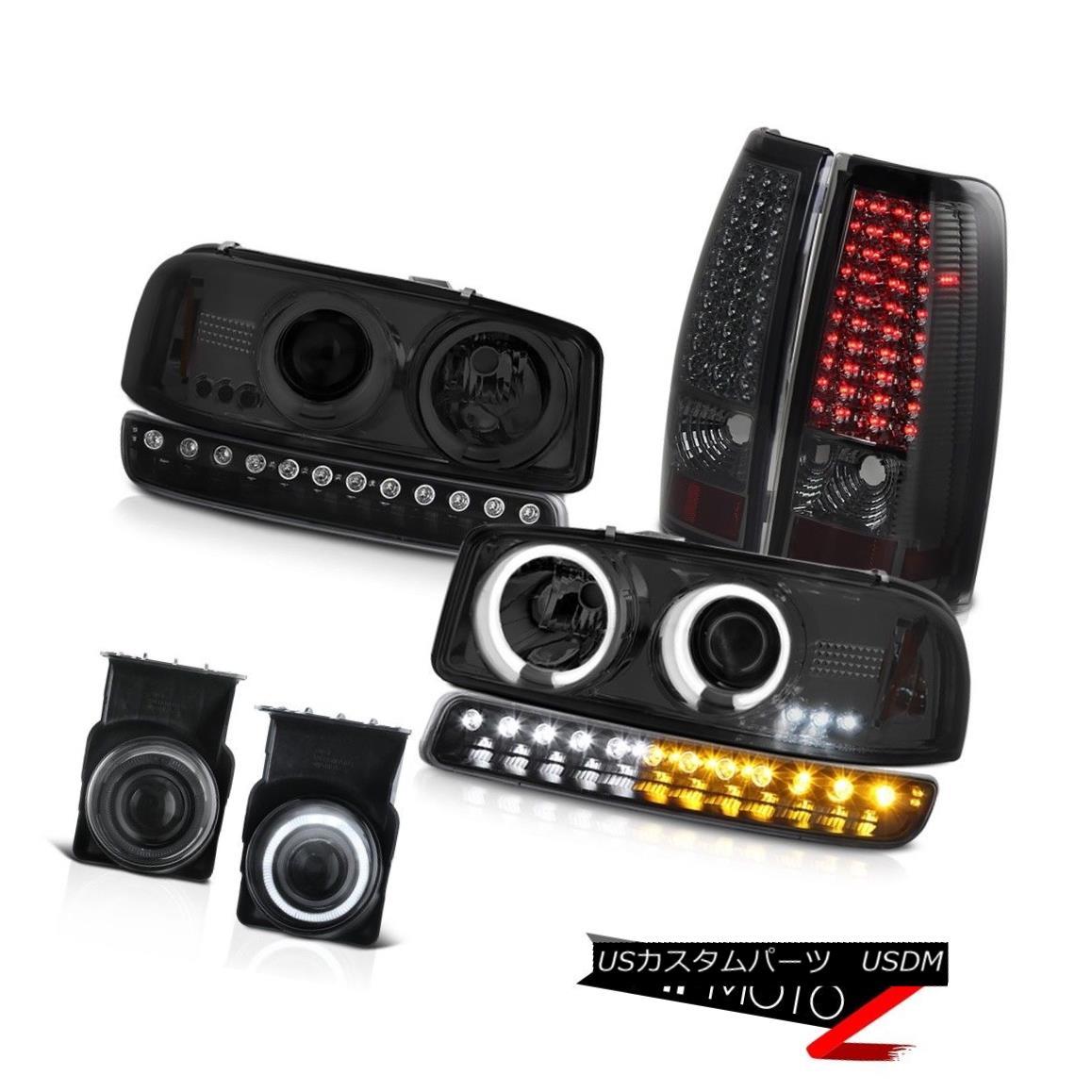 ヘッドライト 03-06 Sierra 1500 Foglamps led taillights black signal lamp ccfl headlamps LED 03-06 Sierra 1500 Foglampsはテールライトの黒信号ランプccflヘッドライトLEDを導いた