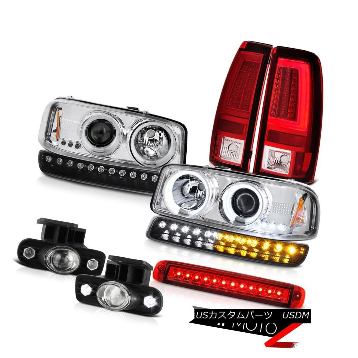 ヘッドライト 1999-2002 Sierra 6.0L Taillamps 3RD Brake Lamp Bumper Fog Lights CCFL Headlights 1999-2002 Sierra 6.0L Taillamps 3RDブレーキランプバンパーフォグライトCCFLヘッドライト