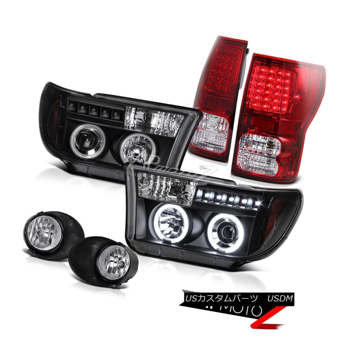 ヘッドライト 07-13 Toyota Tundra CCFL Halo Projector Headlight+Led Tail Light+Fog Lamp COMBO 07-13 Toyota Tundra CCFL Haloプロジェクターヘッドライト+ Ledテールライト+フォグランプCOMBO