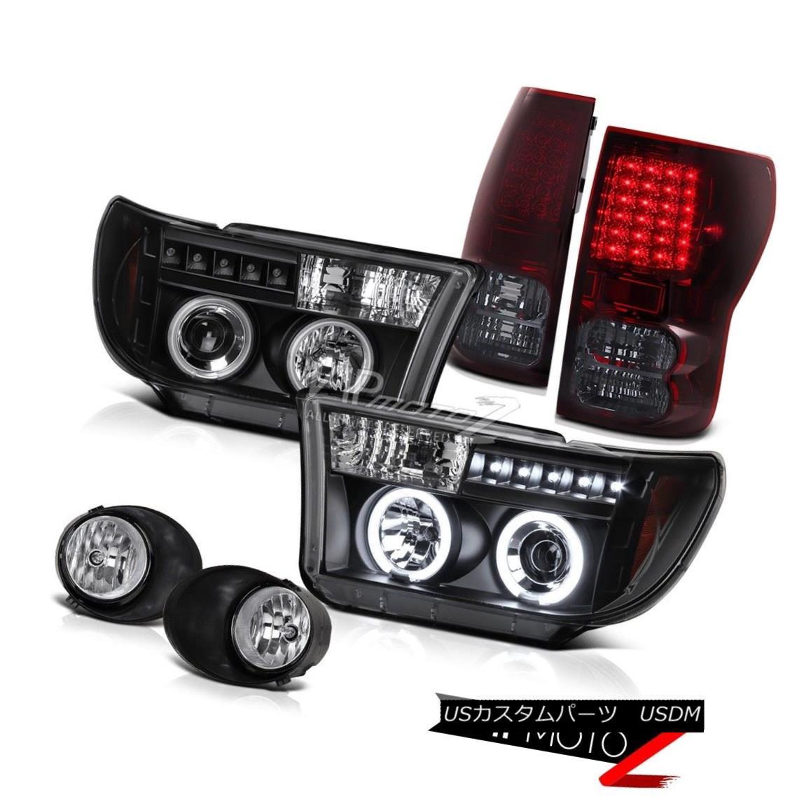 ヘッドライト BlACK CCFL Halo Projector Headlight+Led TailLight+Fog Lamp Toyota 2007-13 Tundra BlACK CCFL Haloプロジェクターヘッドライト+ Led TailLight + Fog Lamp Toyota 2007-13 Tundra
