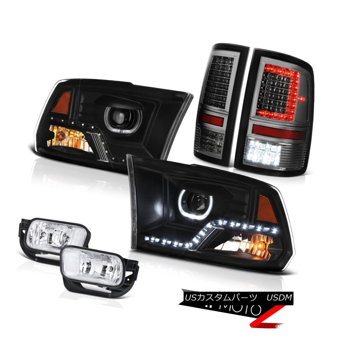 ヘッドライト 2010-2013 Dodge RAM 1500 Smokey Tail Lamps DRL Headlamps Driving Assembly PAIR 2010-2013ダッジRAM 1500スモーキーテールランプDRLヘッドランプドライビングアセンブリペア