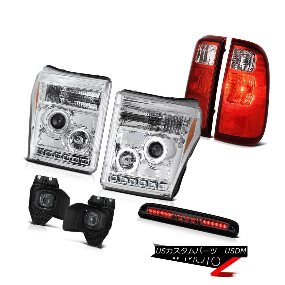 ヘッドライト 11-16 F250 Xl 3RD Brake Light Foglamps Red Clear Taillamps Crystal Headlights 11-16 F250 Xl 3RDブレーキライトフォグランプレッドクリアタライアンプクリスタルヘッドライト