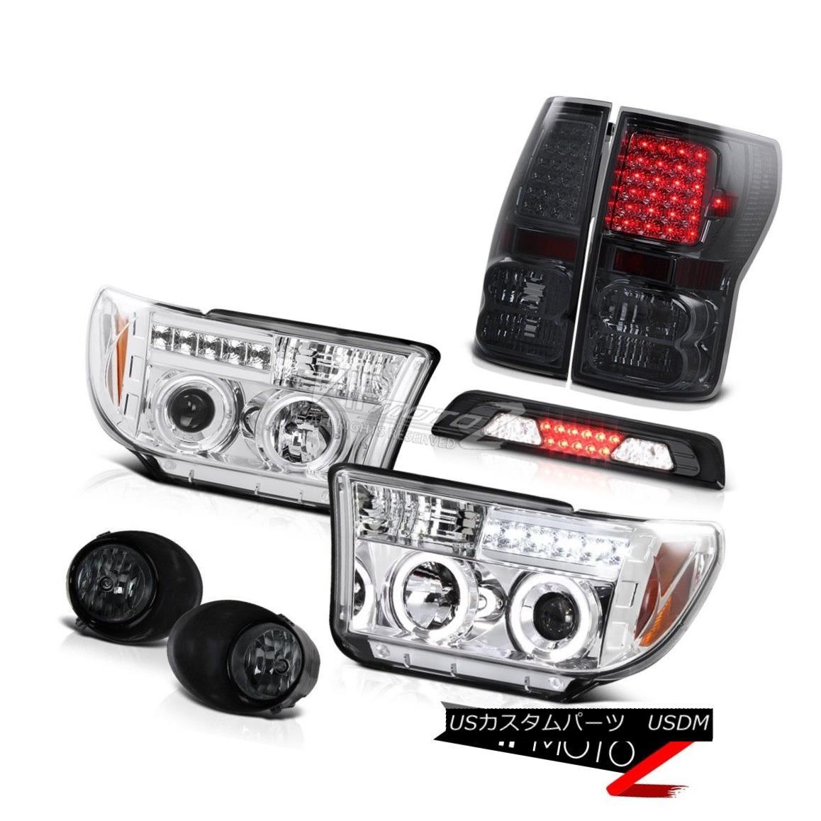 ヘッドライト 2007-2013 Toyota Tundra SR5 Foglights High Stop Lamp Taillamps Chrome Headlights 2007-2013トヨタトンドラSR5フォグライトハイストップランプタイルランプクロームヘッドライト