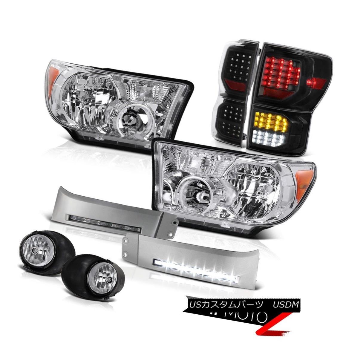 ヘッドライト 2007-2013 Toyota Tundra SR5 Taillamps Headlamps Bumper DRL Foglights Assembly 2007年?2013年トヨタ・トンドラSR5テールランプ・ヘッドランプバンパーDRLフォグライト・アセンブリ