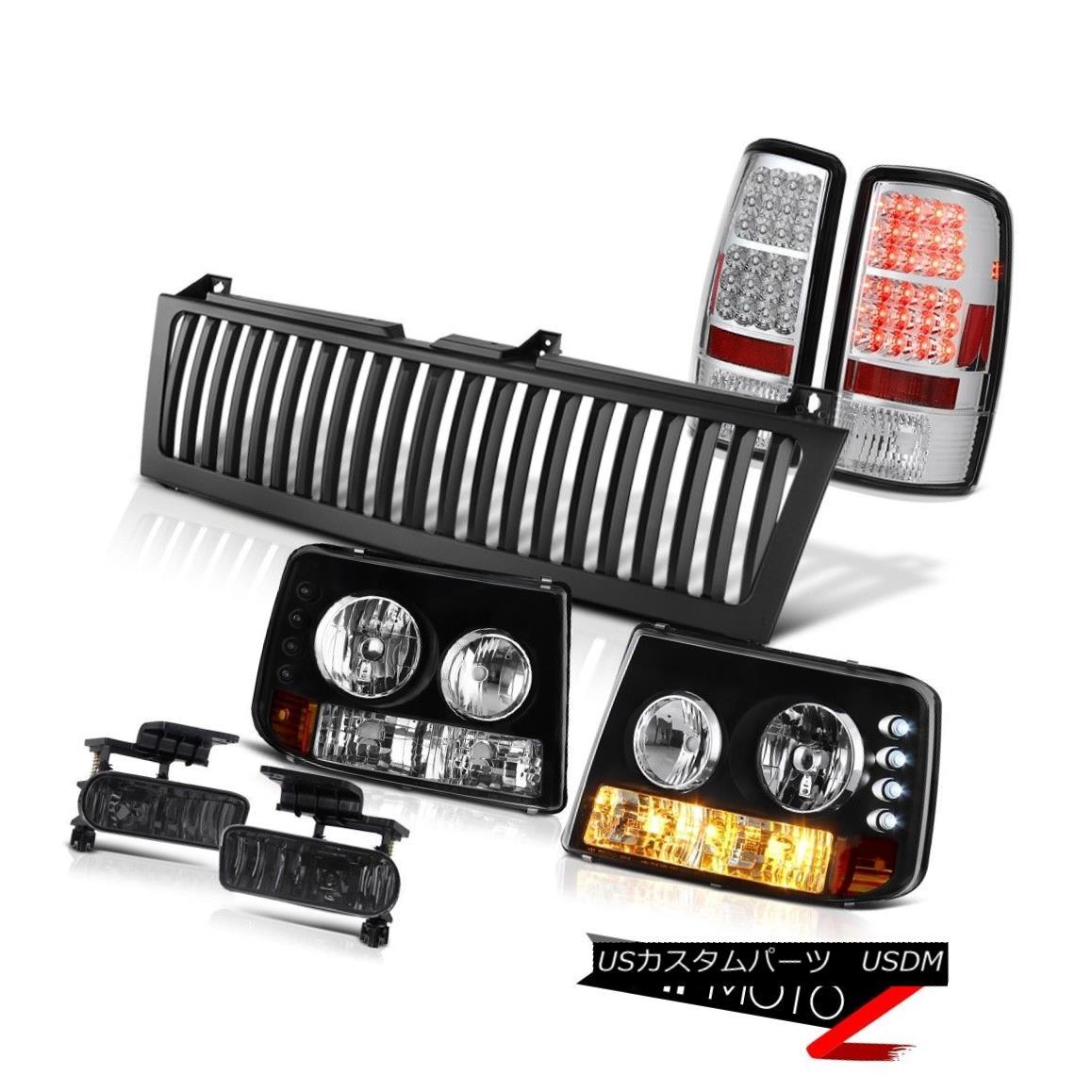 ヘッドライト 2000-2006 Chevy Tahoe Bumper+Headlight SMD LED Tail Light Smoke Fog Black Grille 2000-2006シボレータホバンパー+ヘッドリッグ ht SMD LEDテールライトスモークフォグブラックグリル