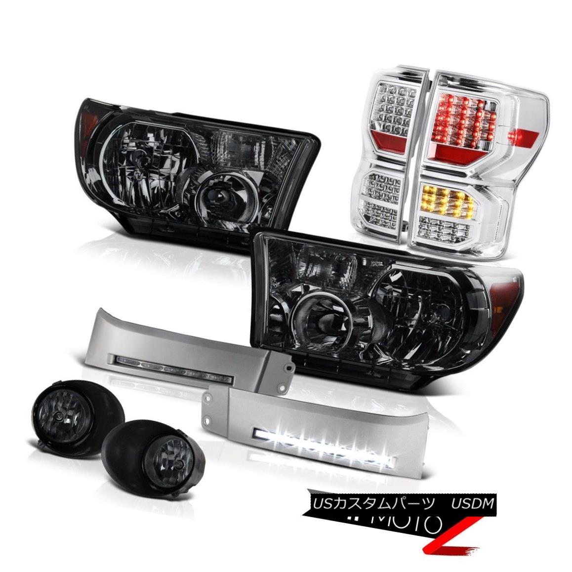 ヘッドライト 07-13 Toyota Tundra Limited Taillamps Headlamps DRL Strip Foglights