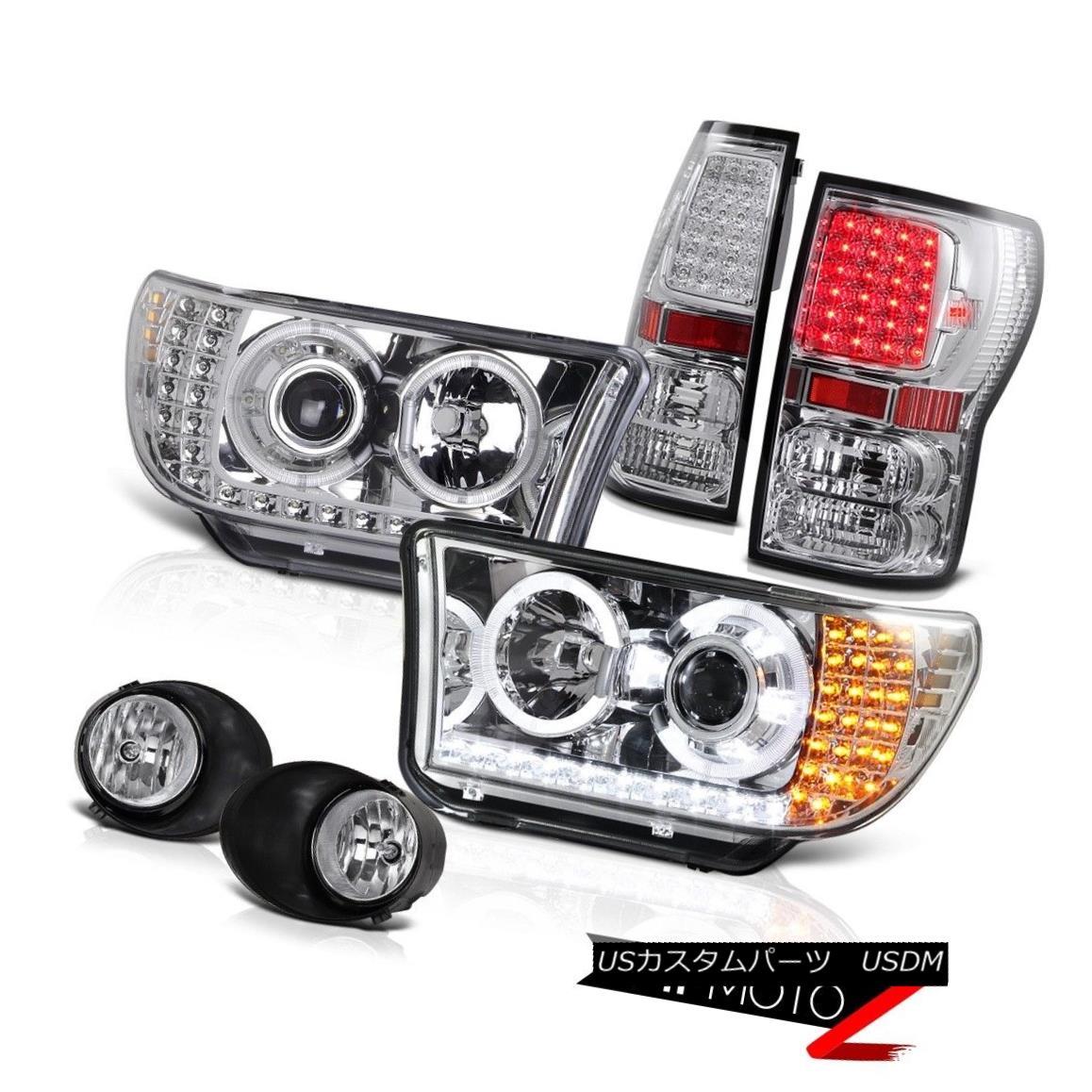 ヘッドライト 2007-13 Toyota Tundra Chrome Projector Led Headlight+Led Tail Light+Fog Lamp 2007-13トヨタトンドラクロームプロジェクターは、ヘッドライト+ Ledテールライト+フォグランプ