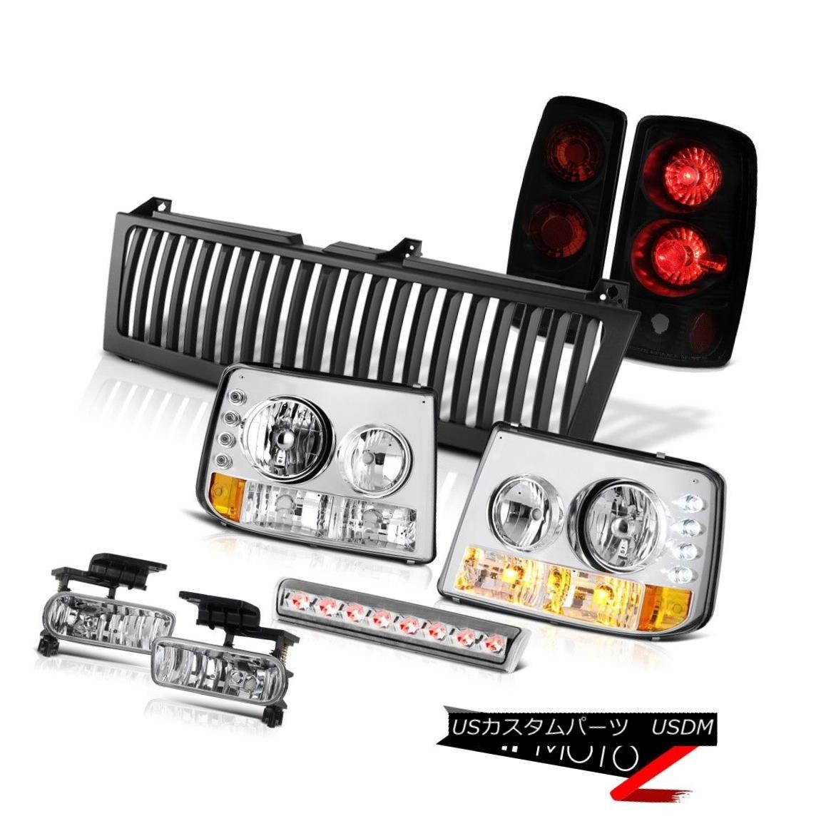 ヘッドライト 00-06 Suburban 6.0L Headlamps Altezza Darkest Tail Lights Chrome Fog Brake LED 00-06郊外6.0LヘッドランプAltezza DarkestテールライトChrome FogブレーキLED