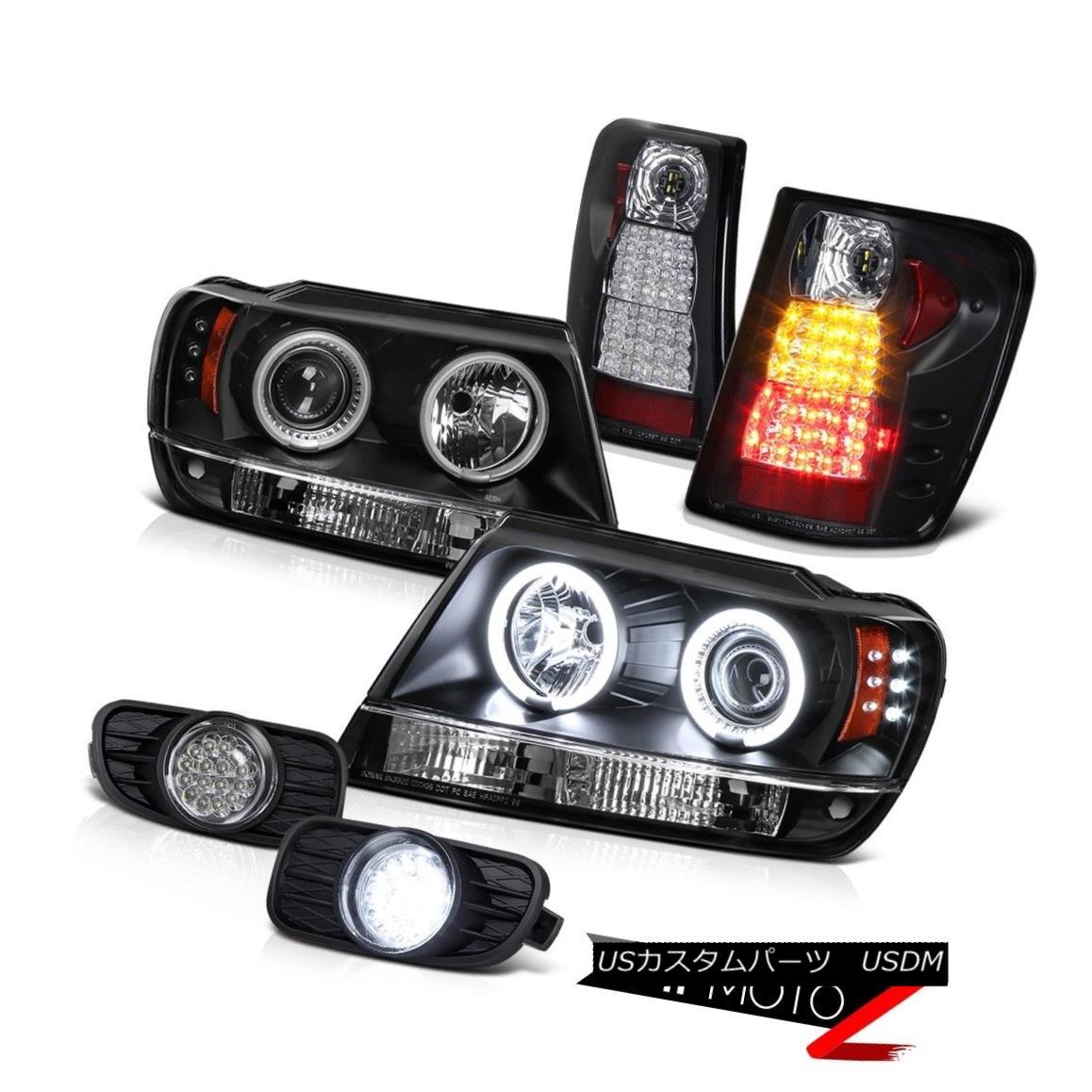 ヘッドライト {CCFL} Projector Headlight+SMD Tail Light+LED Fog Lamp 99-03 Grand Cherokee V8 {CCFL}プロジェクターヘッドライト+ SMDテールライト+ LEDフォグランプ99-03 Grand Cherokee V8