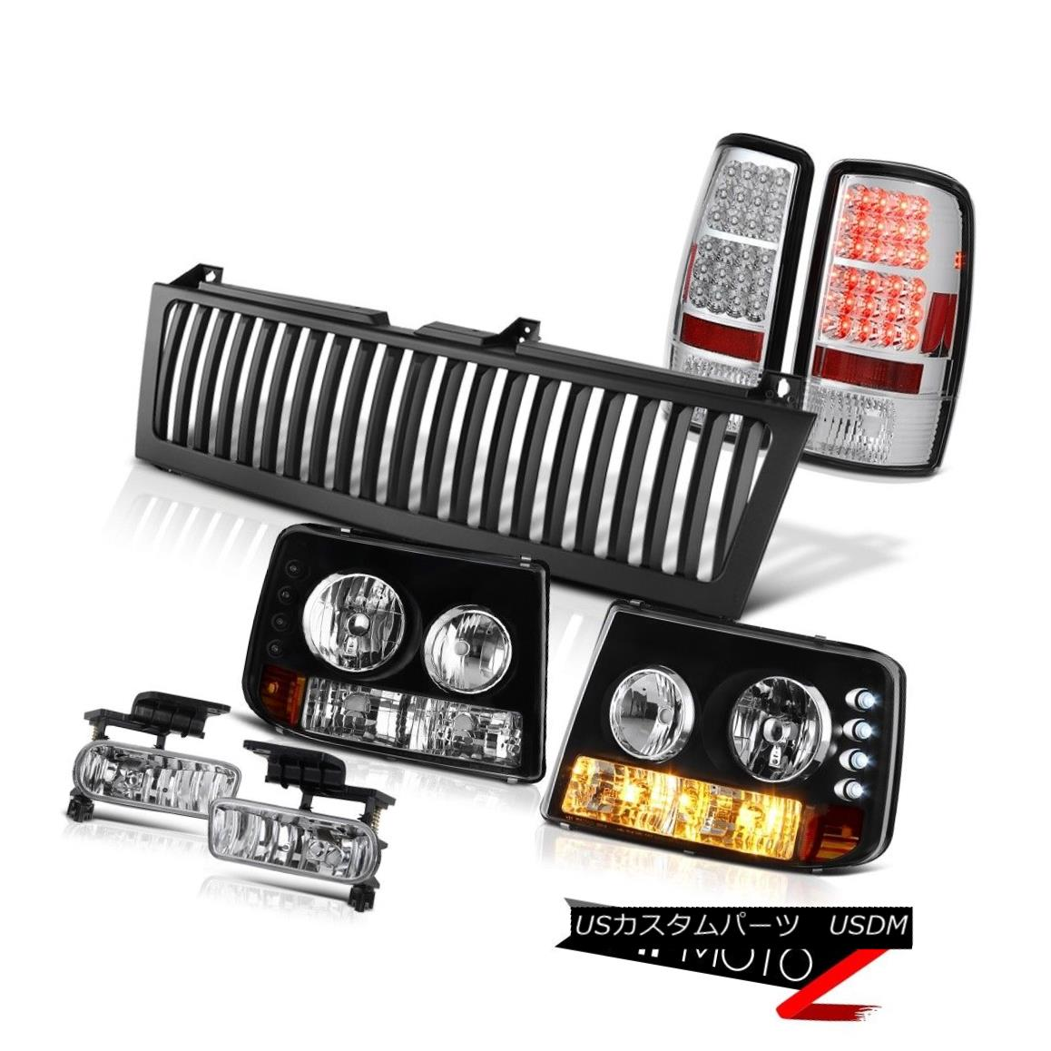 ヘッドライト 00-06 Suburban 5.7L Parking Headlamp Clear LED Tail Lights Foglight Black Grille 00-06郊外5.7LパーキングヘッドランプクリアLEDテールライトフォグライトブラックグリル