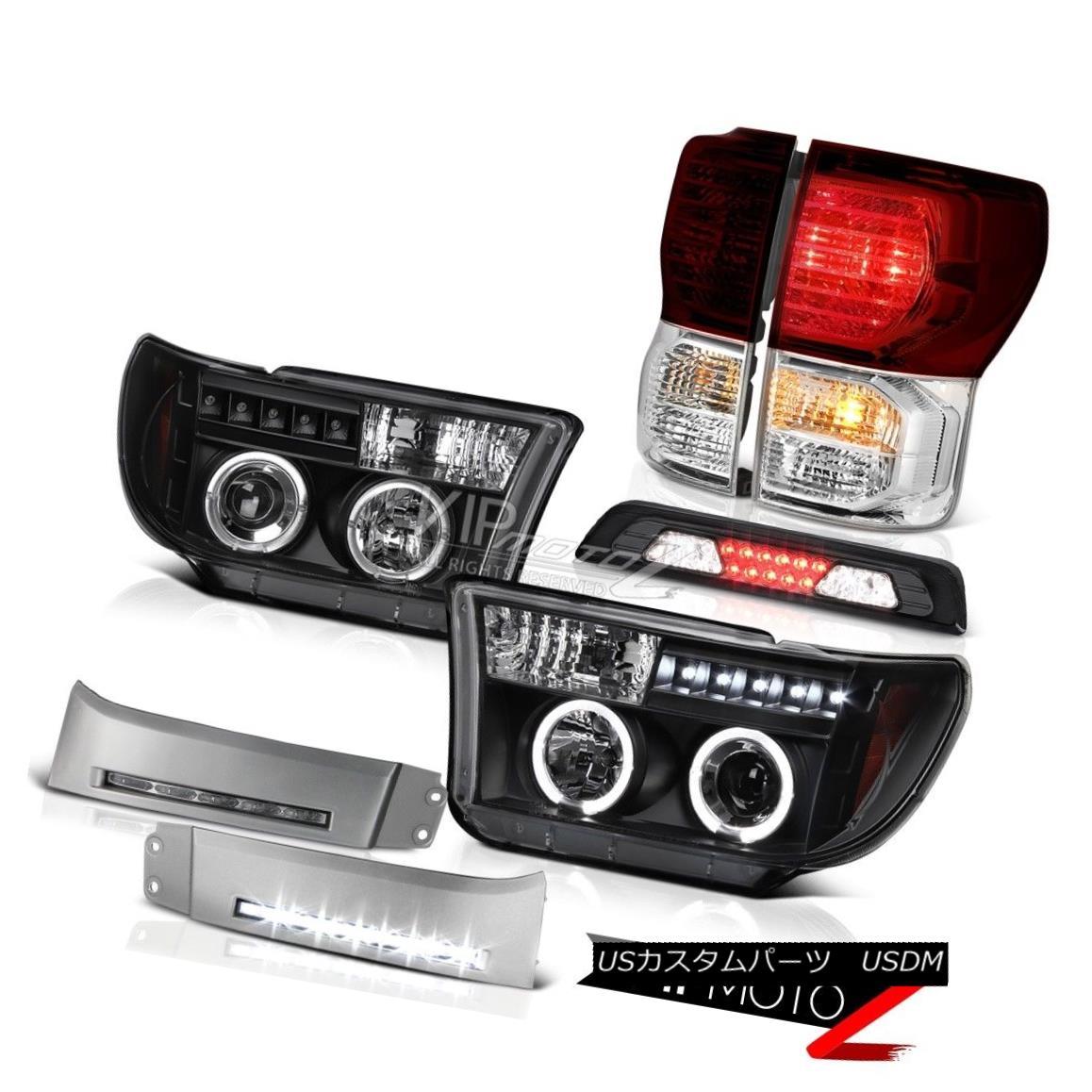 ヘッドライト 07-13 Toyota Tundra SR5 DRL Strip 3RD Brake Lamp Taillamps Headlamps Assembly 07-13トヨタトンドラSR5 DRLストリップ3RDブレーキランプタイヤランプヘッドランプアセンブリ