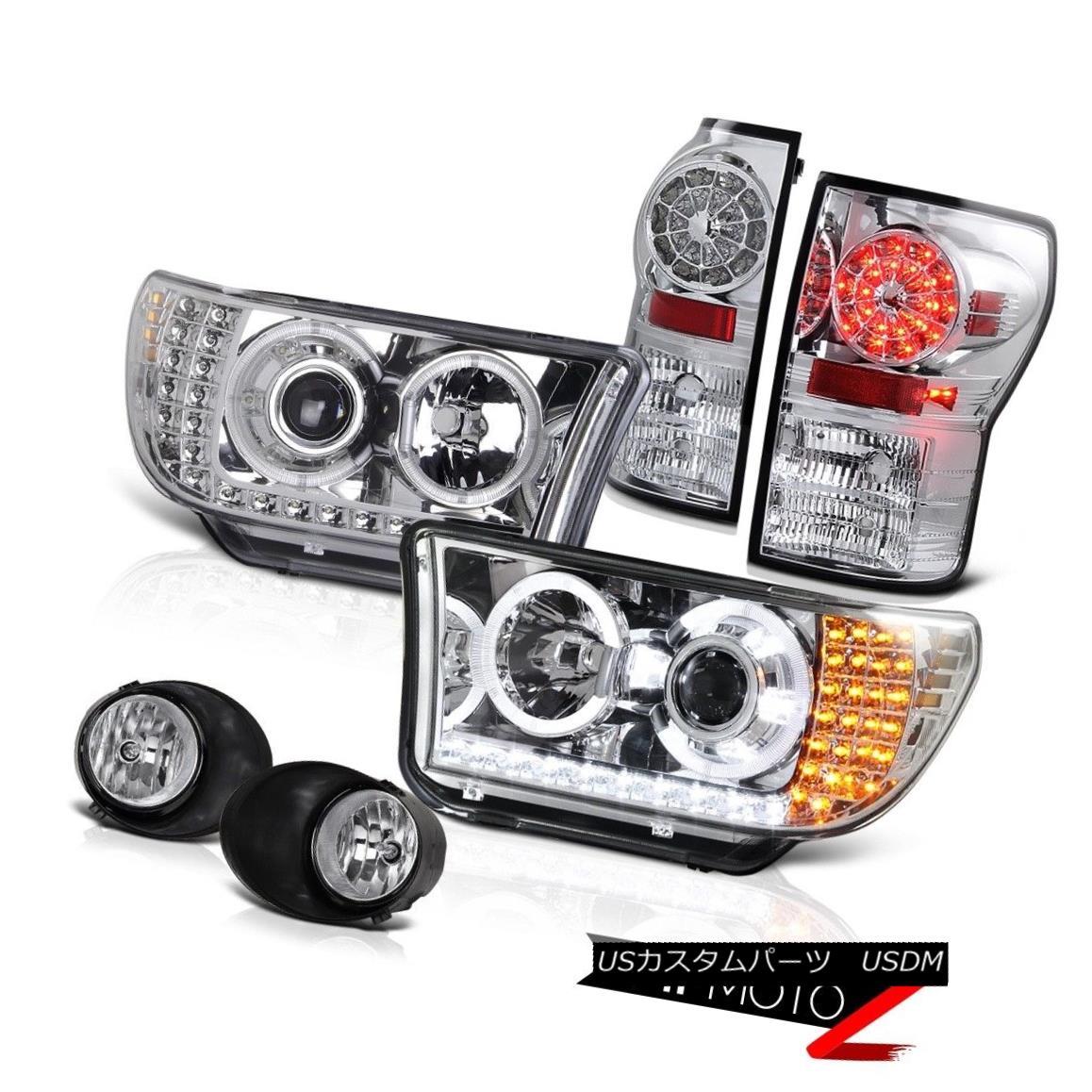 ヘッドライト Crystal Projector Led Headlight+Led Tail Light+Fog Lamp 2007-2013 Tundra SR5 クリスタルプロジェクターLedヘッドライト+ Ledテールライト+ Fogランプ2007-2013 Tundra SR5