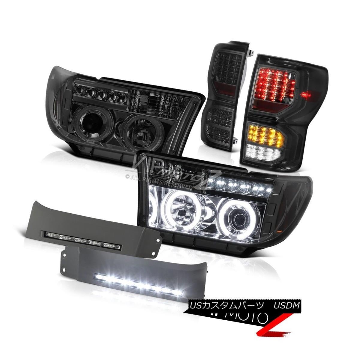 ヘッドライト 07-13 Toyota Tundra Platinum Tail Lights Paintable Bumper DRL Headlamps Newest 07-13トヨタトンドラプラチナテールライトペインタブルバンパーDRLヘッドランプ最新