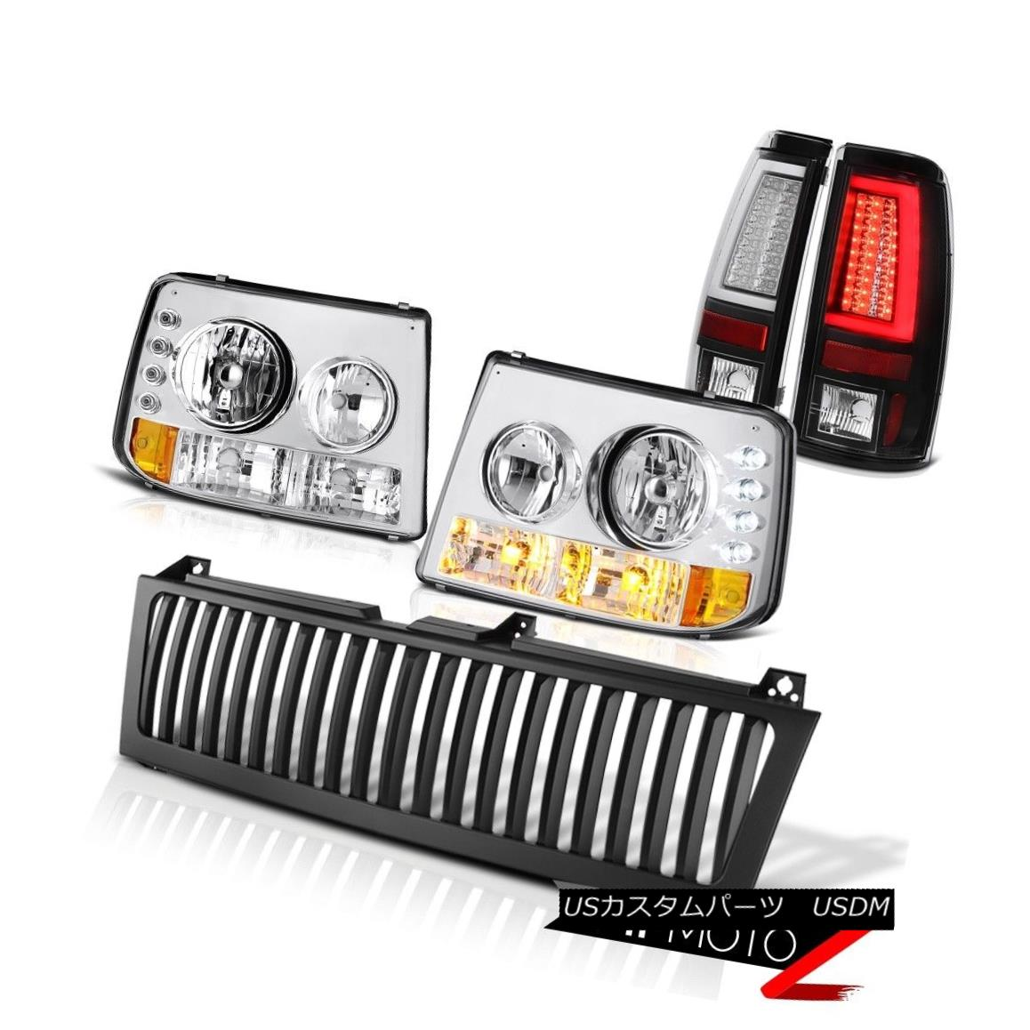 ヘッドライト 1999-2002 Silverado WT Tail Brake Lamps Vertical Grille Euro Chrome