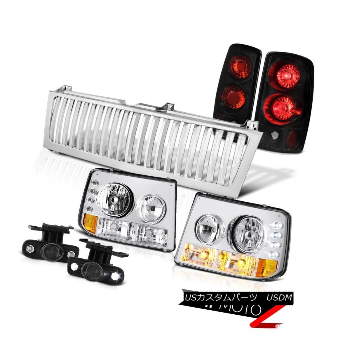 ヘッドライト 00-06 Suburban 6.0L Bumper Headlamp Rear Tail Light Driving Fog Chrome Grille 00-06郊外6.0Lバンパーヘッドランプリアテールライトドライビングフォグクロームグリル