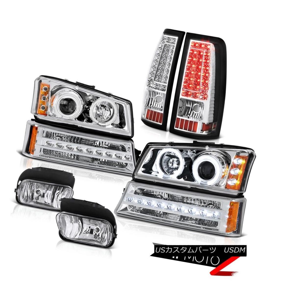 ヘッドライト 2003-2006 Chevy Silverado Fog Lights Tail Brake Signal Lamp Projector Headlamps 2003-2006シボレーシルバラードフォグライトテールブレーキ信号ランププロジェクターヘッドランプ