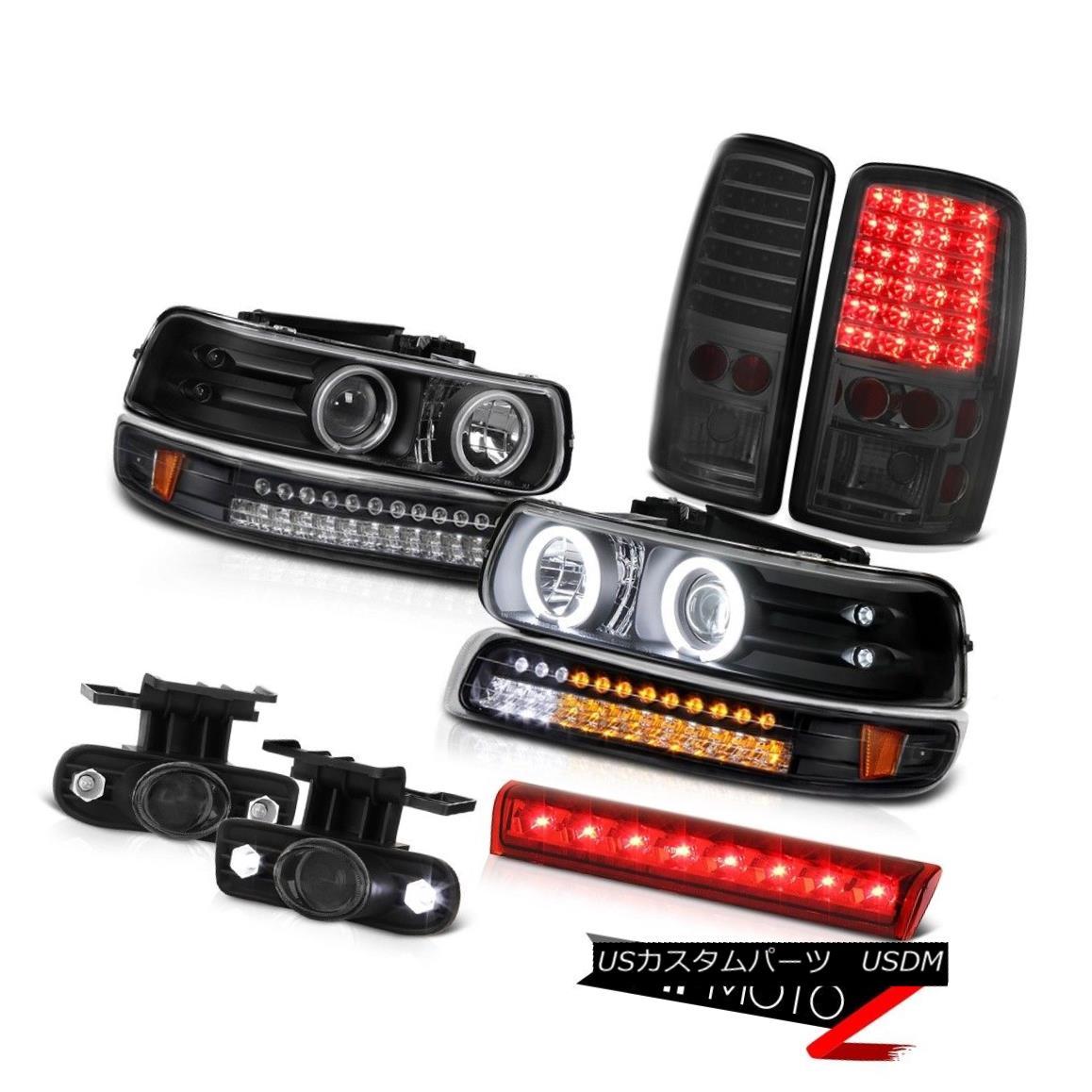 ヘッドライト 2000-2006 Tahoe Z71 Black headlamps turn signal rear brake lamps fog 3rd Lamp 2000-2006タホZ71ブラックヘッドランプ信号リヤブレーキランプフォグ第3ランプ