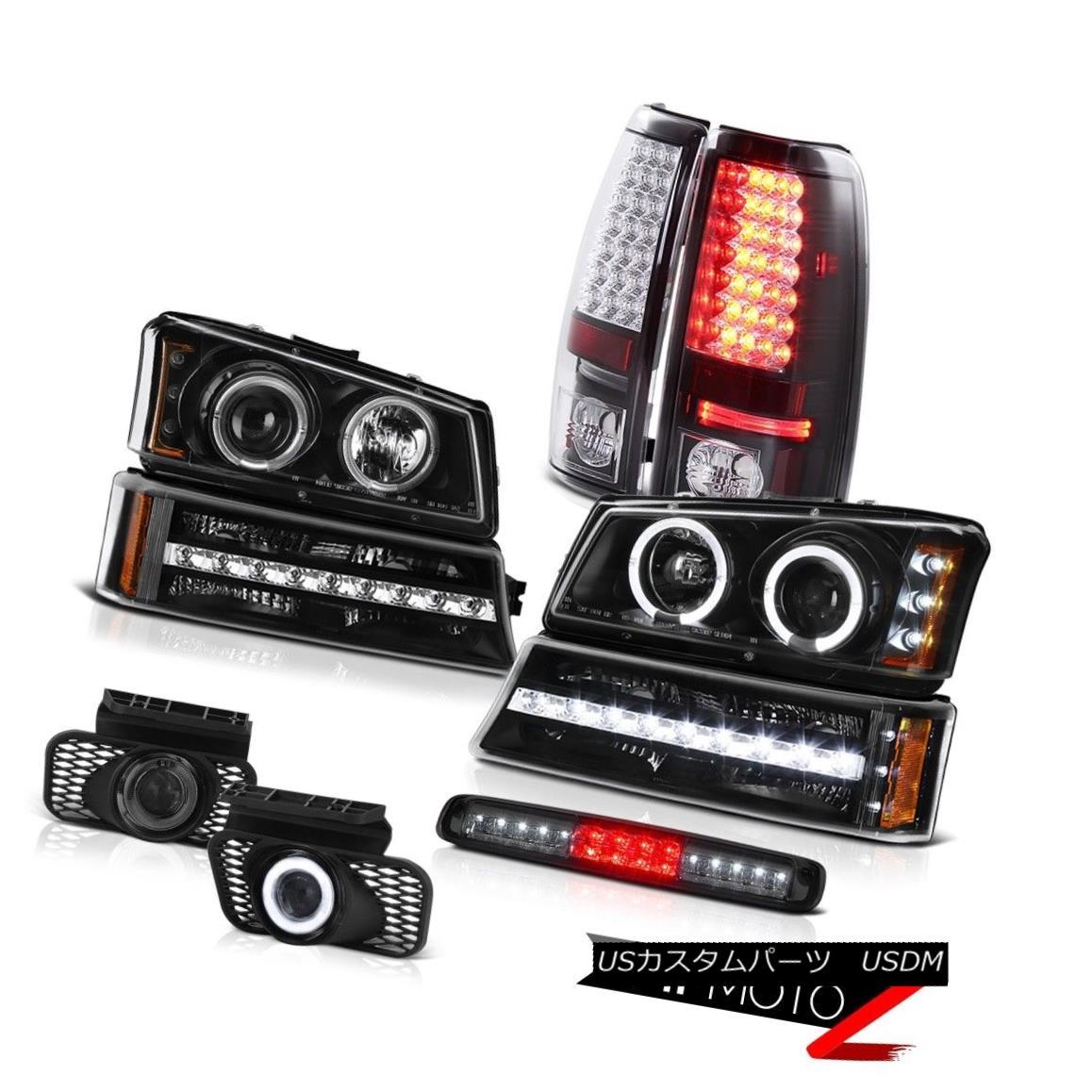ヘッドライト 03-06 Silverado 3RD Brake Lamp Fog Lights Black Bumper Headlamps Rear Lights 03-06 Silverado 3RDブレーキランプフォグライトブラックバンパーヘッドランプリアライト