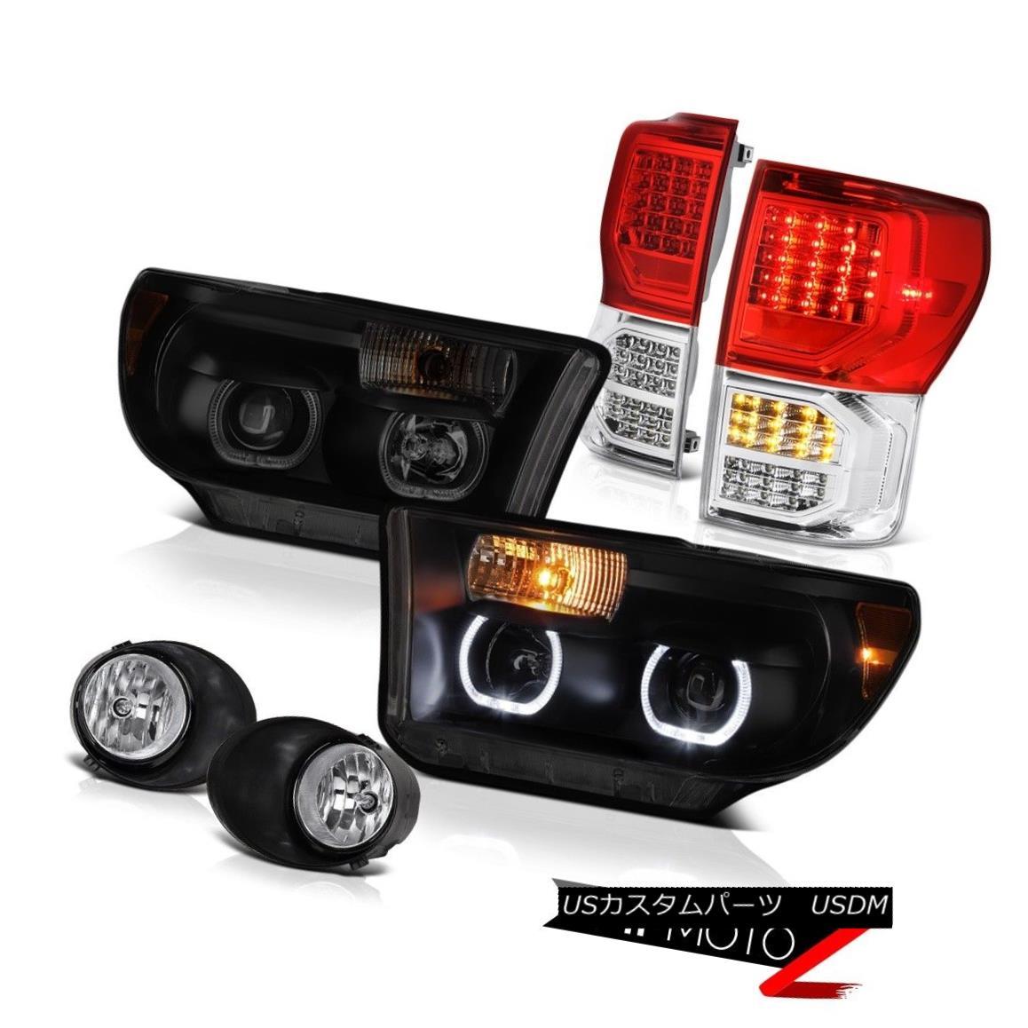 ヘッドライト 07-13 Toyota Tundra SR5 Rear Brake Lamps Projector Headlights Fog