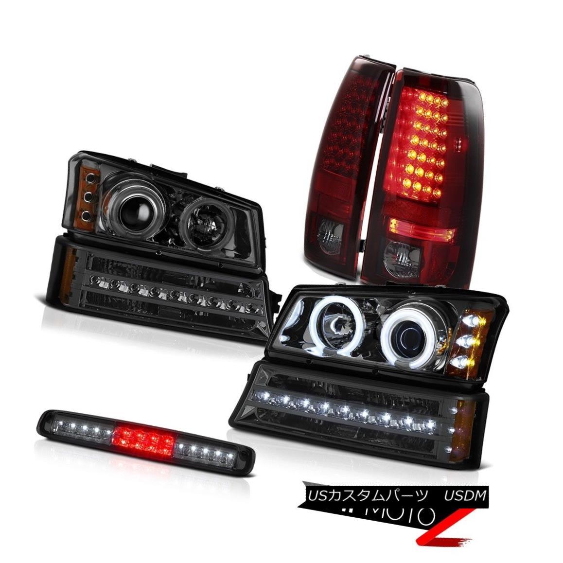 ヘッドライト 2003-2006 Silverado Roof Brake Light Signal Headlights Rosso Burgundy Rear Lamps 2003年 - 2006年シルラードルーフブレーキライトシグナルヘッドライトロッソバーガンディリアランプ