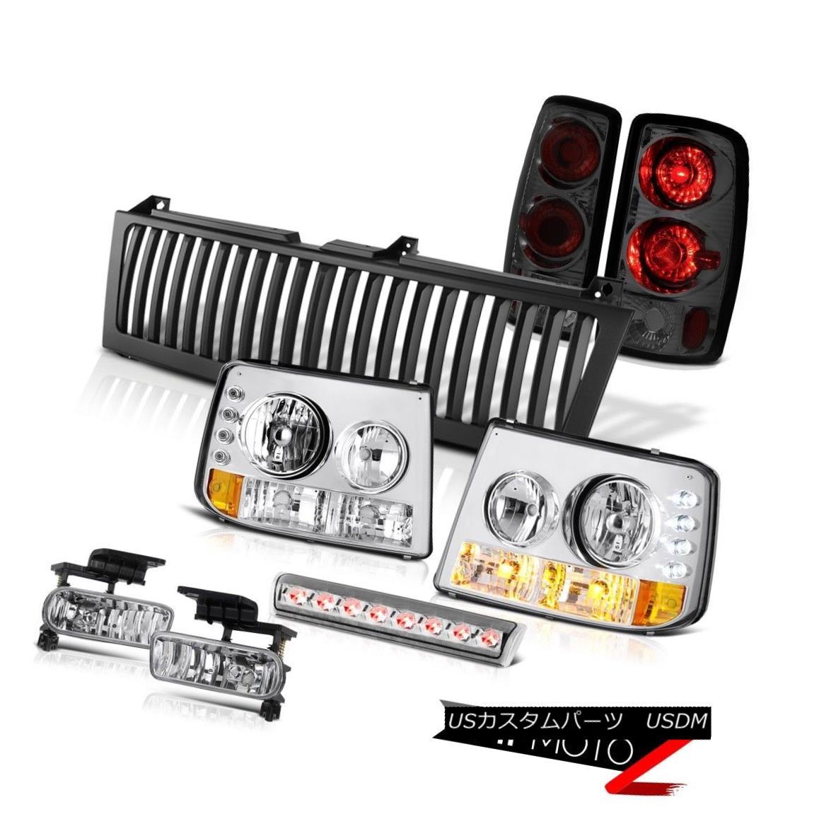 ヘッドライト Bumper+Headlamps Rear Tail Smoke Chrome Fog 3rd LED Black 00-06 Suburban 6.0L バンパー+ヘッドラム psリアテールスモーククロームフォグ3rd LEDブラック00-06郊外6.0L