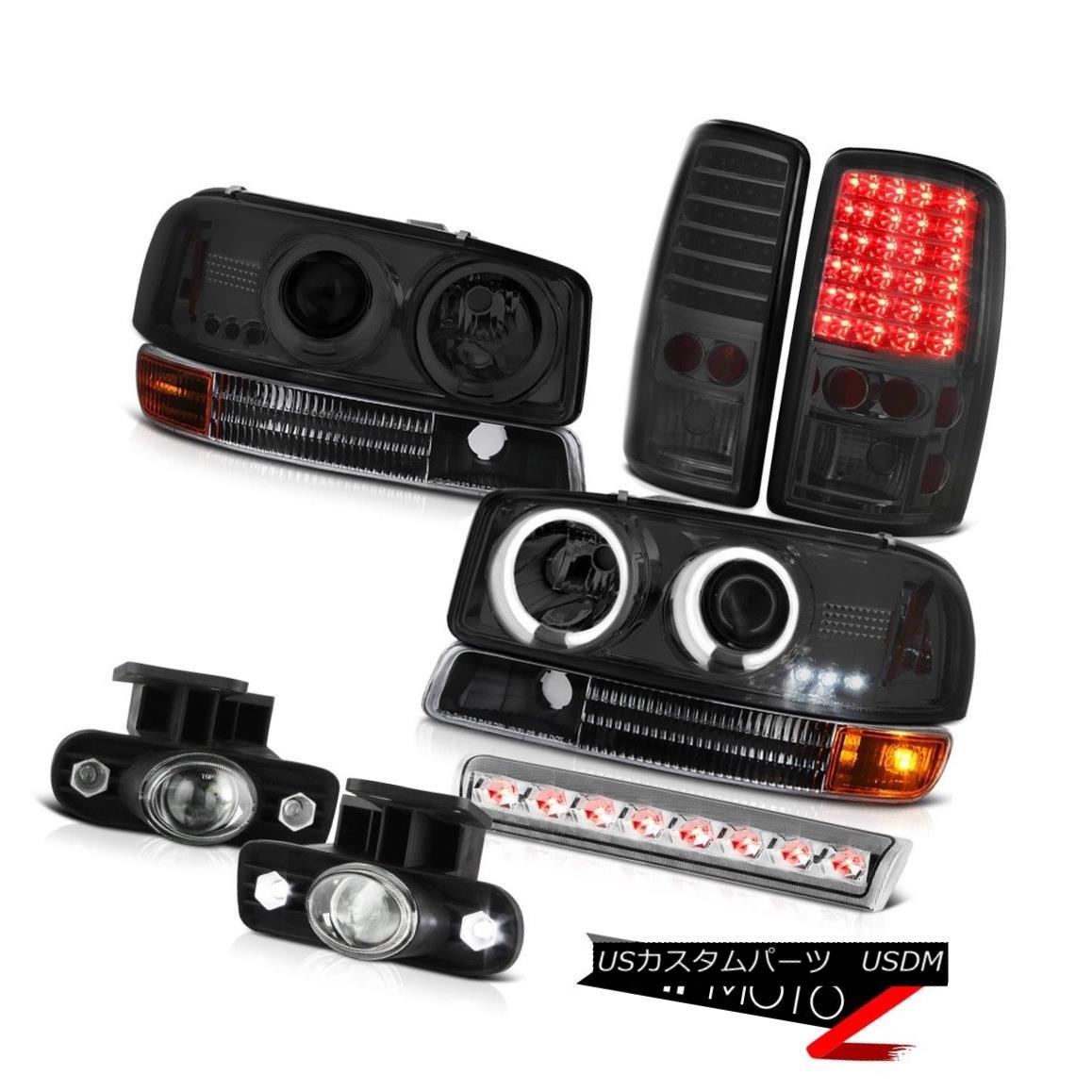 ヘッドライト Tinted CCFL Halo Headlights LED Taillamps FogLights 3rd Brake 00-06 Yukon SLE ティンテッドCCFLハローヘッドライトLEDタイルランプFogLights 3rd Brake 00-06ユーコンSLE