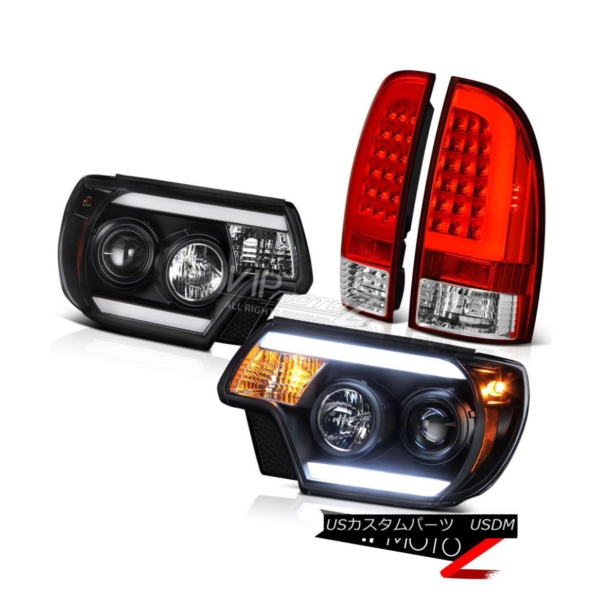 ヘッドライト 12-15 Toyota Tacoma Tail Inky Black Headlamps Replacement Tron Style Brightest 12-15トヨタタコマテールインキブラックヘッドランプ交換トロンスタイルブライト