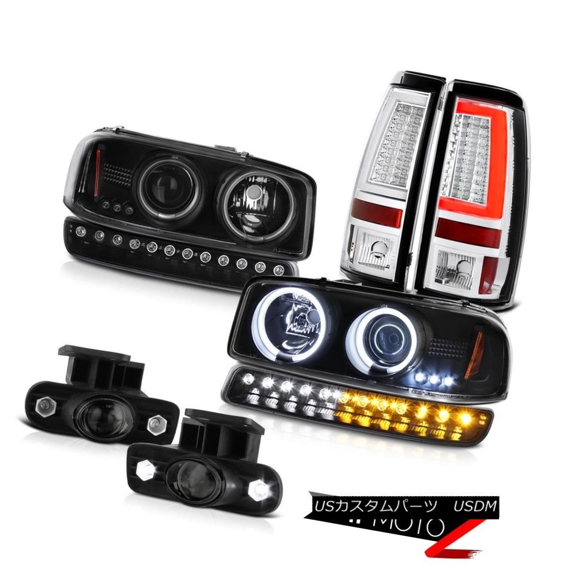 ヘッドライト 1999-2002 Sierra 2500HD Tail Lamps Turn Signal Fog CCFL Headlights