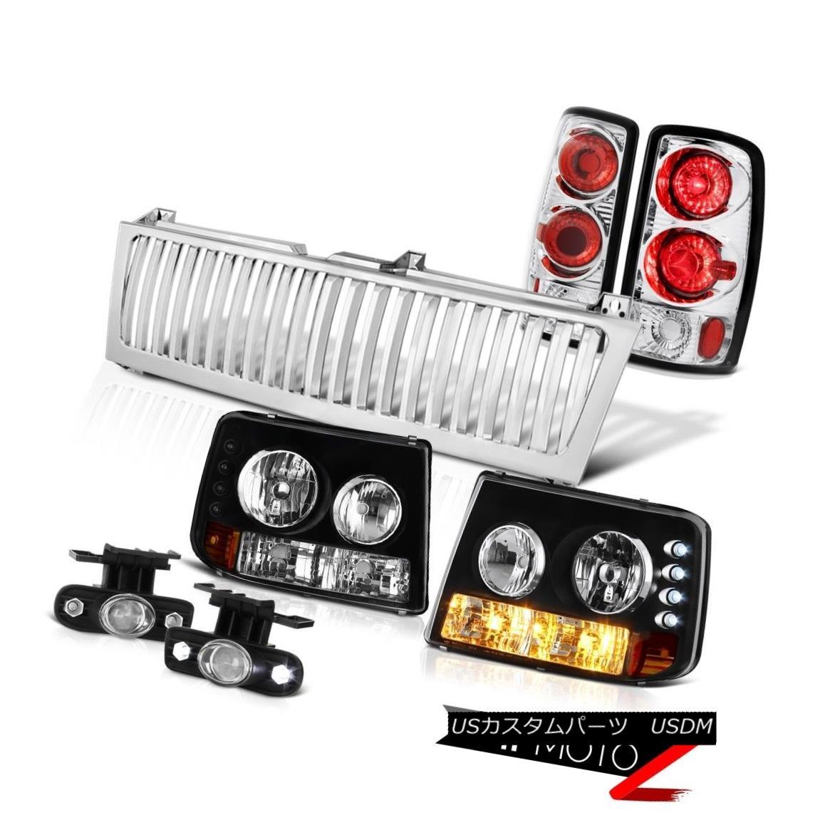 ヘッドライト Bumper Headlights Chrome Brake Lamps Projector Fog Grille 2000-2006 Tahoe Z71 バンパーヘッドライトクロームブレーキランププロジェクターフォググリル2000-2006タホZ71