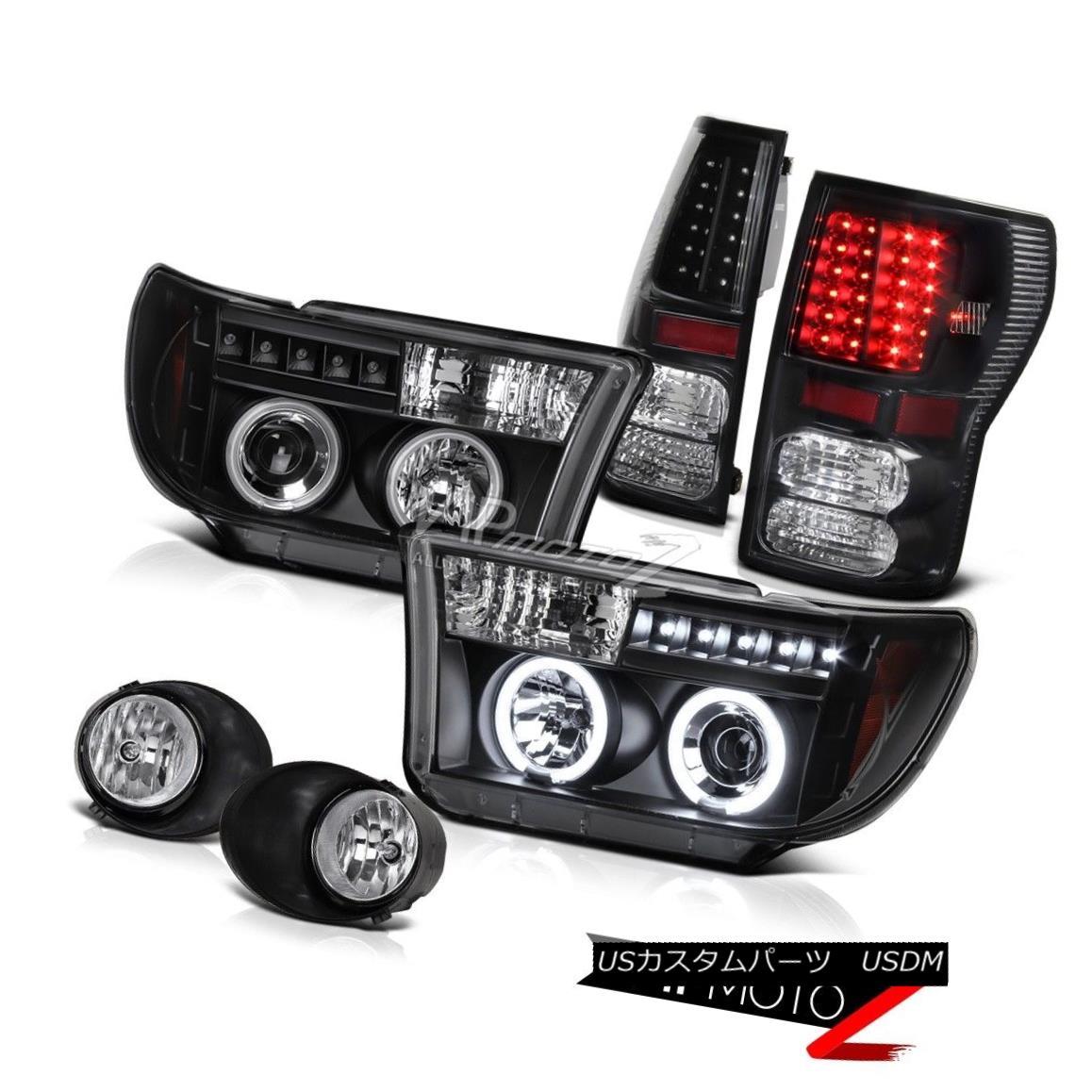 ヘッドライト 07-2013 Tundra TRD Truck CCFL Halo Projector Headlight+Led Tail Light+Fog Lamp 07-2013 Tundra TRDトラックCCFLハロープロジェクターヘッドライト+ Ledテールライト+フォグランプ
