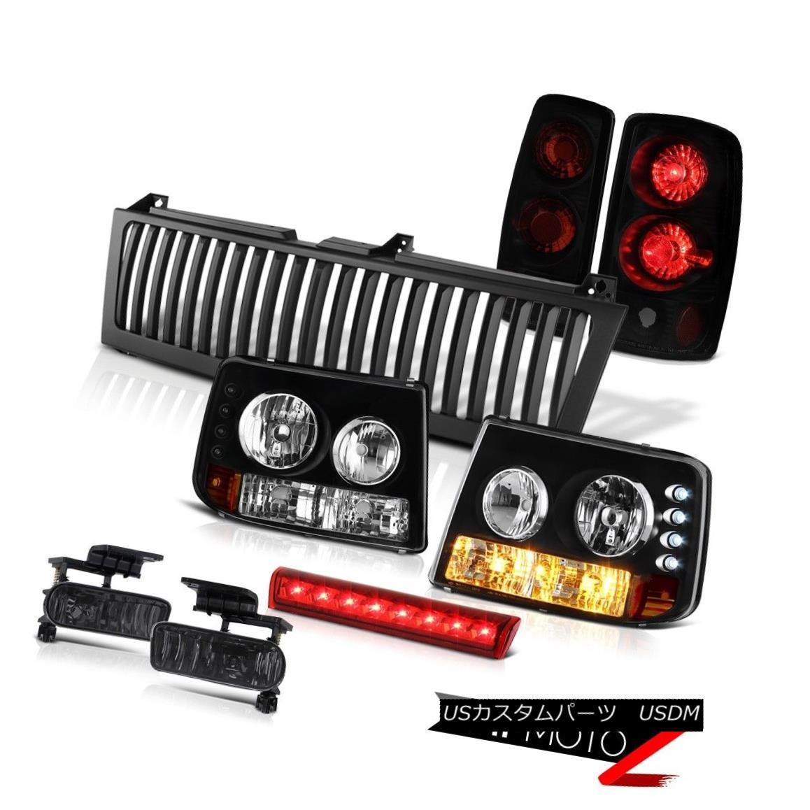 ヘッドライト Black Headlights Taillights Sinister Driving Fog 3rd Cargo LED 2000-06 Tahoe Z71 ブラックヘッドライトテールライト詐欺運転霧第3貨物LED 2000-06 Tahoe Z71