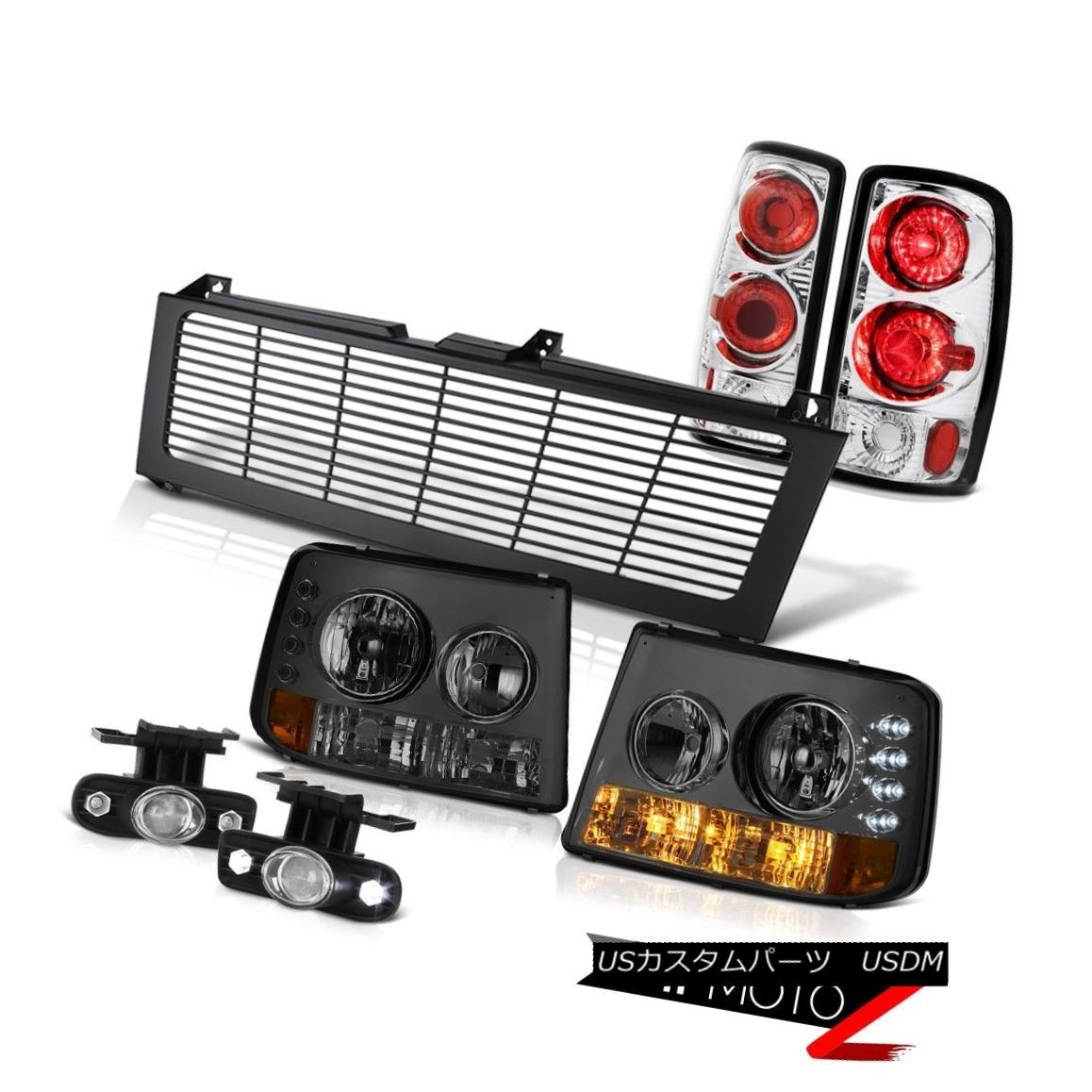 ヘッドライト Smoke Bumper Headlight Rear Lamp Chrome Fog Black Grille 2000-2006 Suburban 5.7L スモークバンパーヘッドライトリアランプクロムフォグブラックグリル2000-2006郊外5.7L