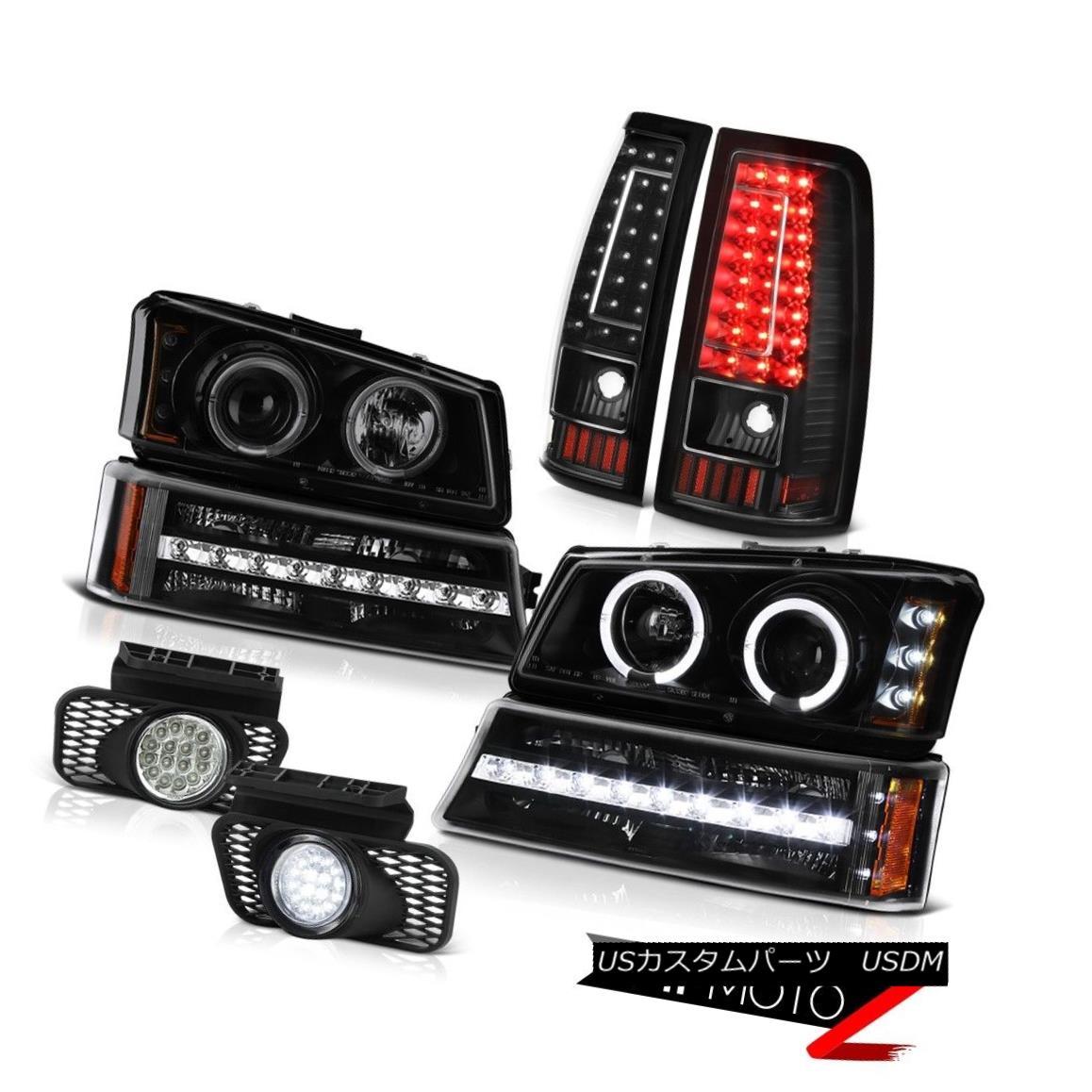 ヘッドライト 2003-2006 Silverado 2500Hd Euro Chrome Fog Lamps Tail Signal Light Headlamps 2003-2006 Silverado 2500Hdユーロクロームフォグランプテールシグナルライトヘッドランプ
